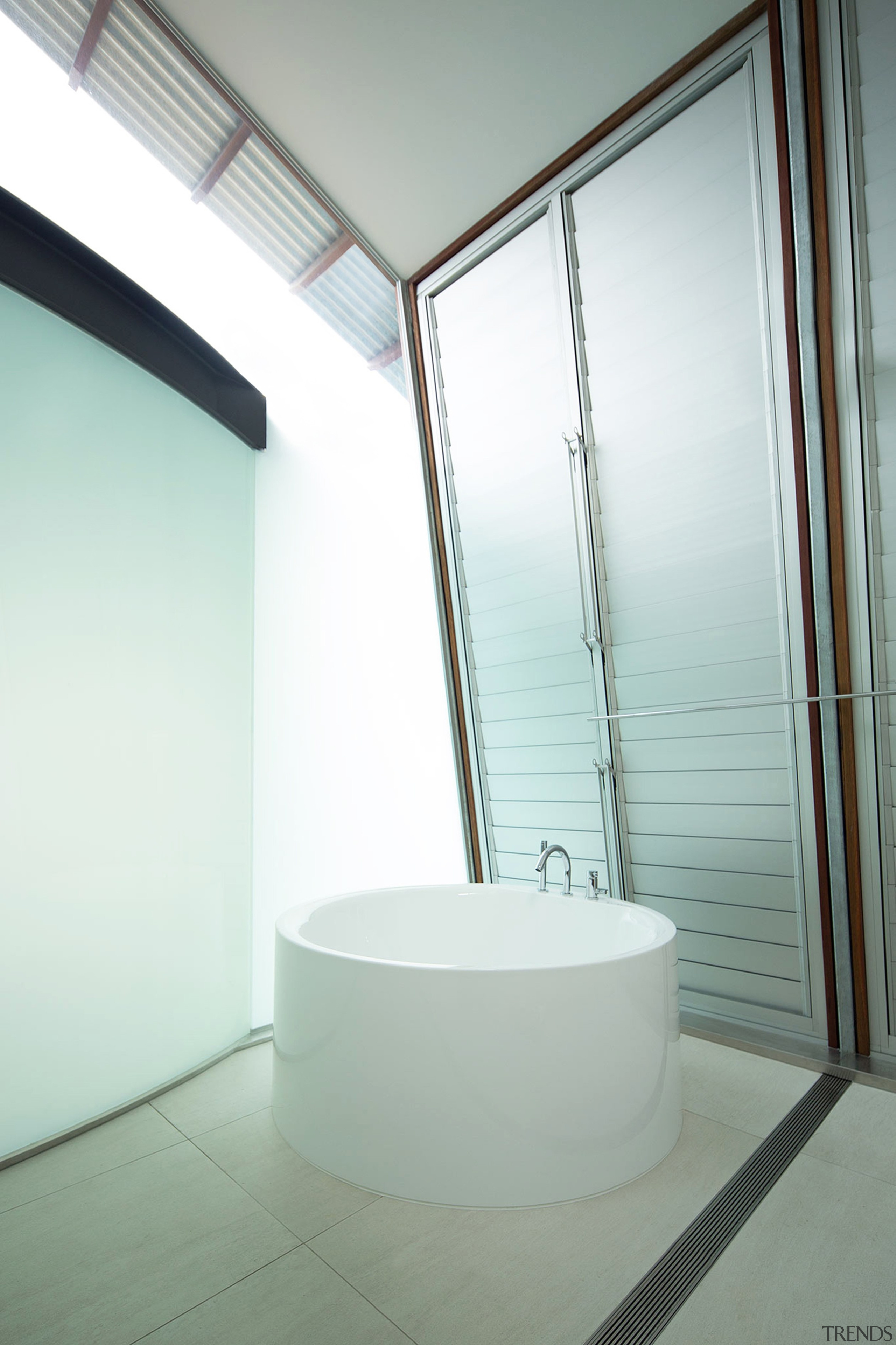 Highly Commended – Cplusc Architectural Workshop architecture, bathroom, daylighting, daytime, glass, house, interior design, room, window, white, gray