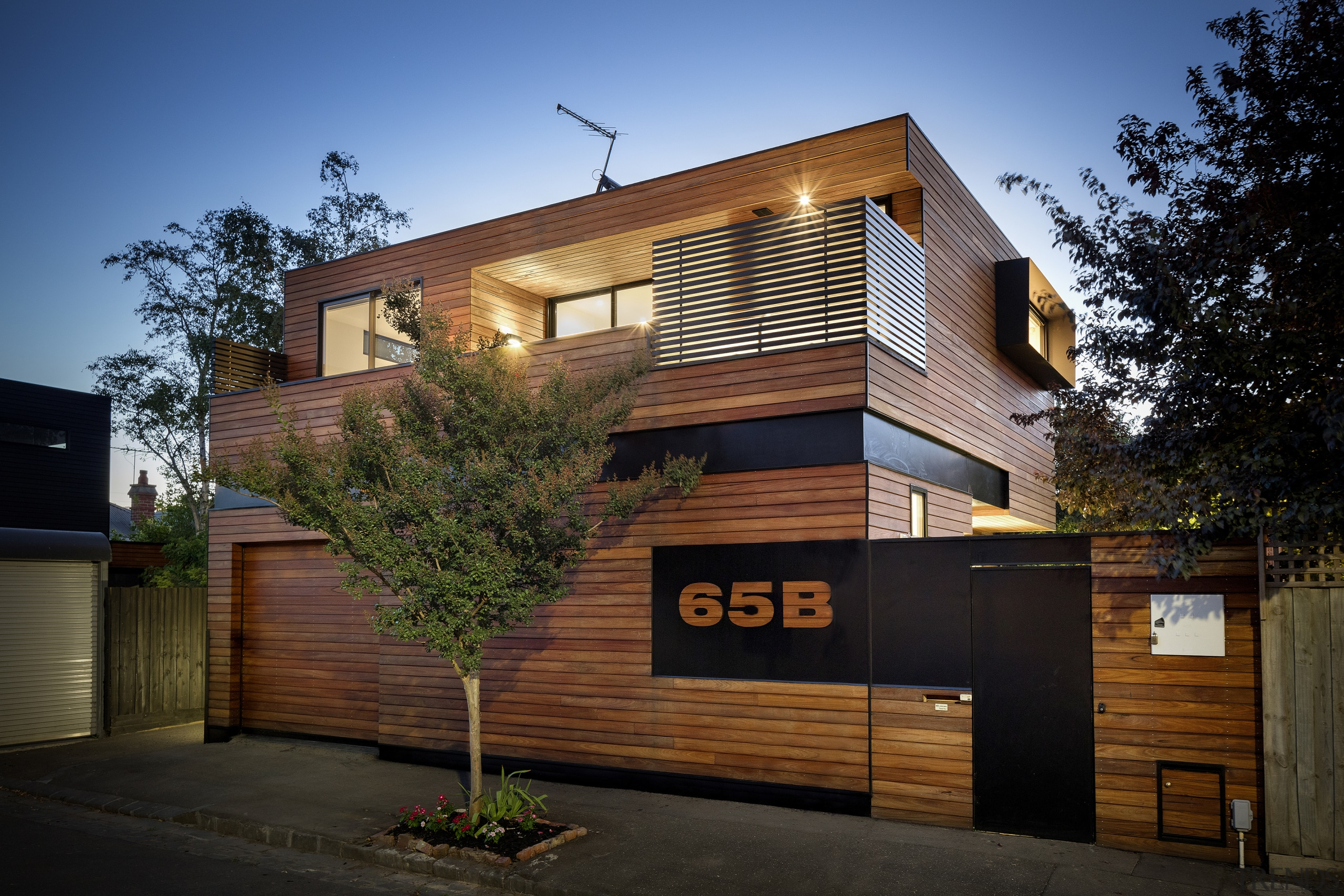 The owners required a small footprint new single architecture, building, elevation, facade, home, house, property, real estate, residential area, siding, black