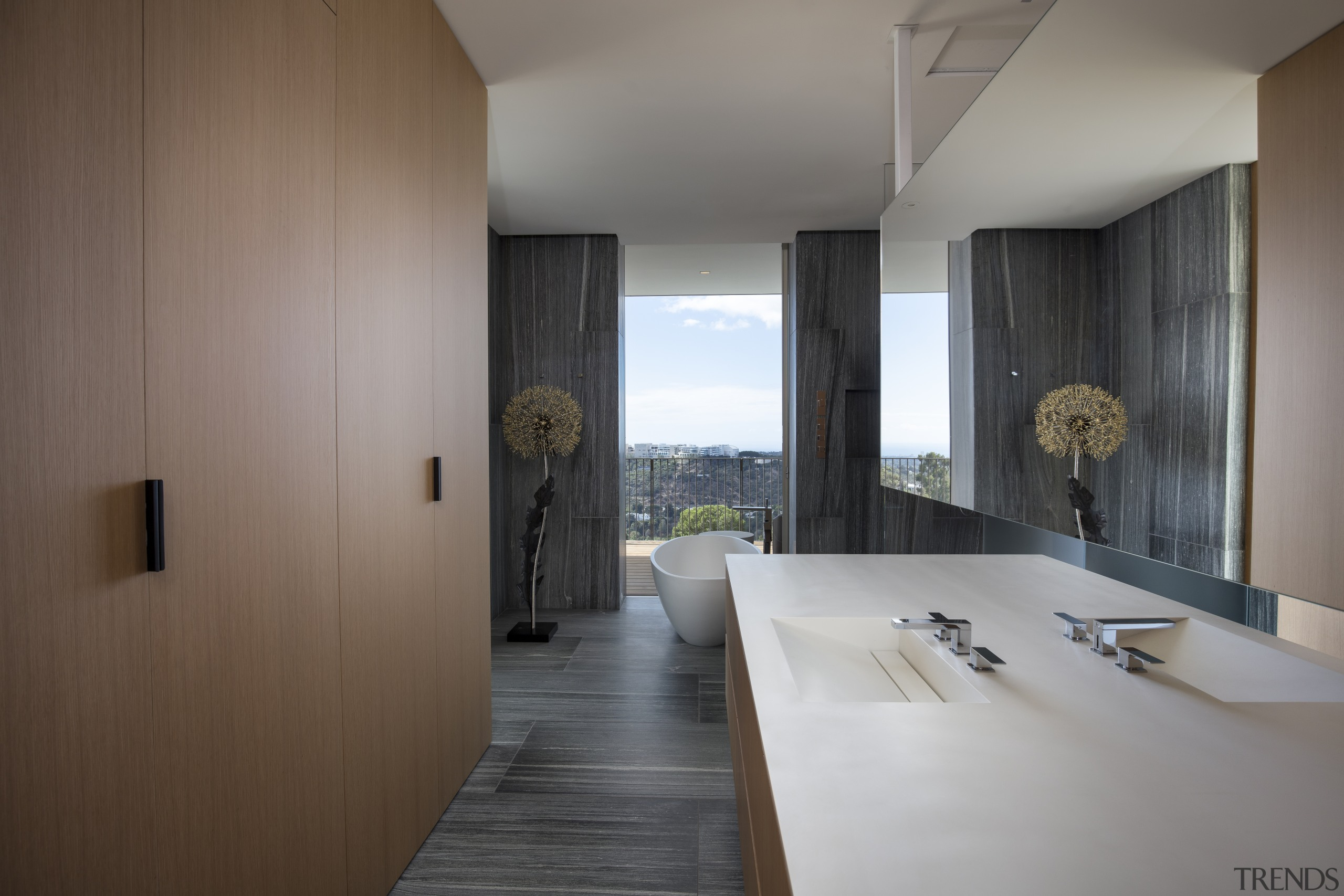 Luxury finishes, plenty of space and sweeping views house, architecture, guest suitedesign, floor, furniture, home, house, interior design, SPFa
