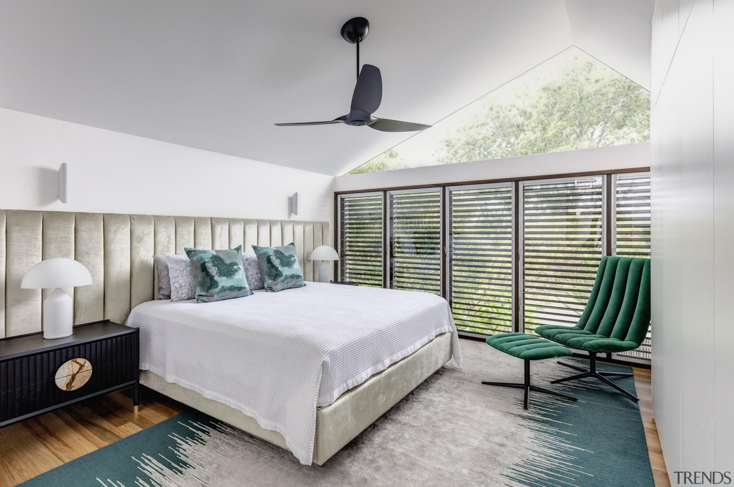 Degrees of separation – this parents master suite Parents Master Bedroom, bed, design, floor, flooring, furniture, interior design, CplusC Architectural Workshop
