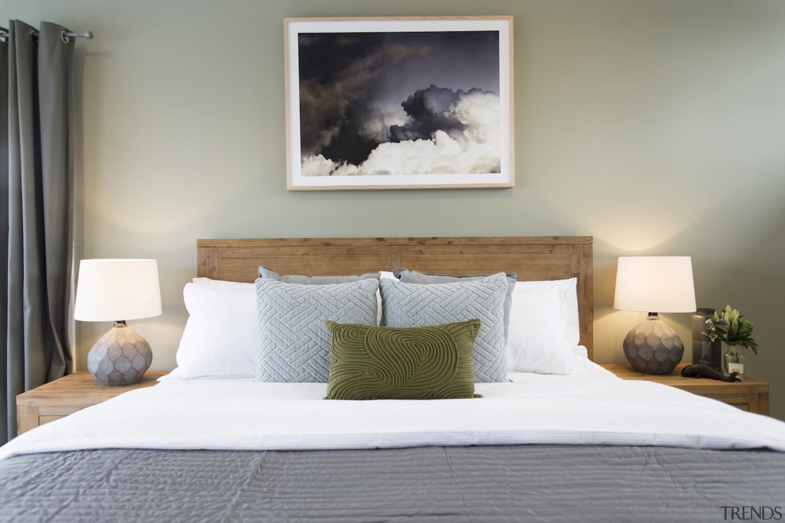 2018 will be the year of Raw Earth bed, bed frame, bedroom, furniture, home, interior design, mattress, room, suite, wall, gray, white