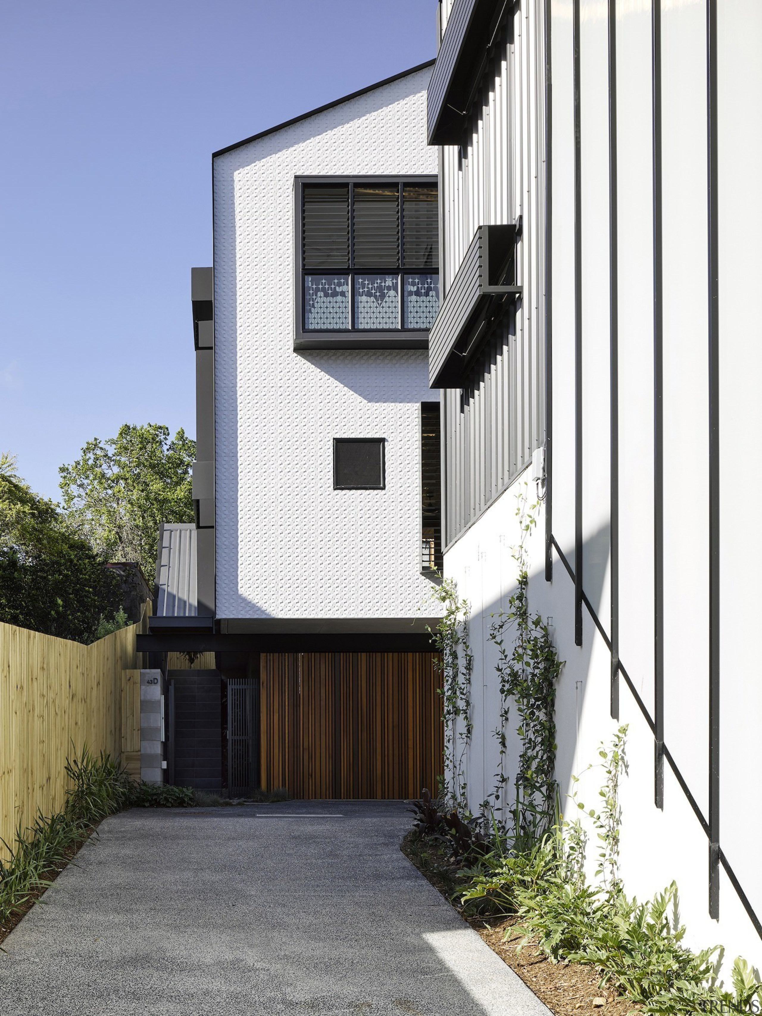 Architect: Refresh DesignPhotography by Roger D'Souza architecture, building, elevation, facade, home, house, property, real estate, residential area, siding, white