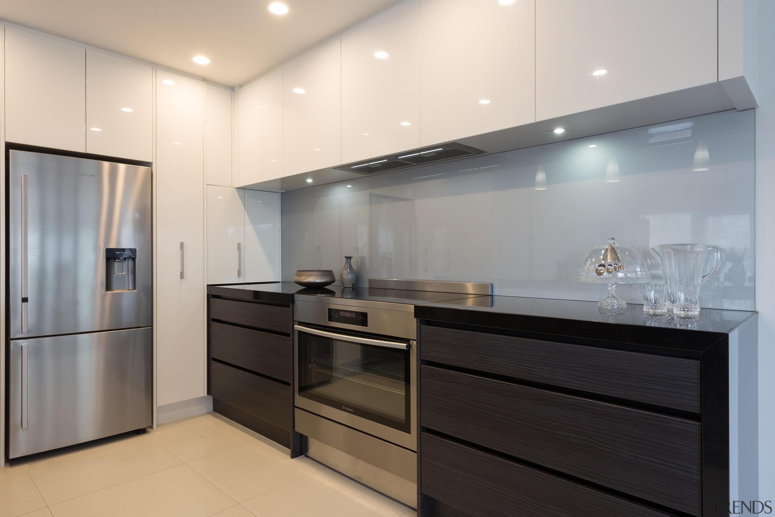 designatek gloss, designatek textured, profile handle, bar fridge, cabinetry, countertop, interior design, kitchen, product design, room, gray, white