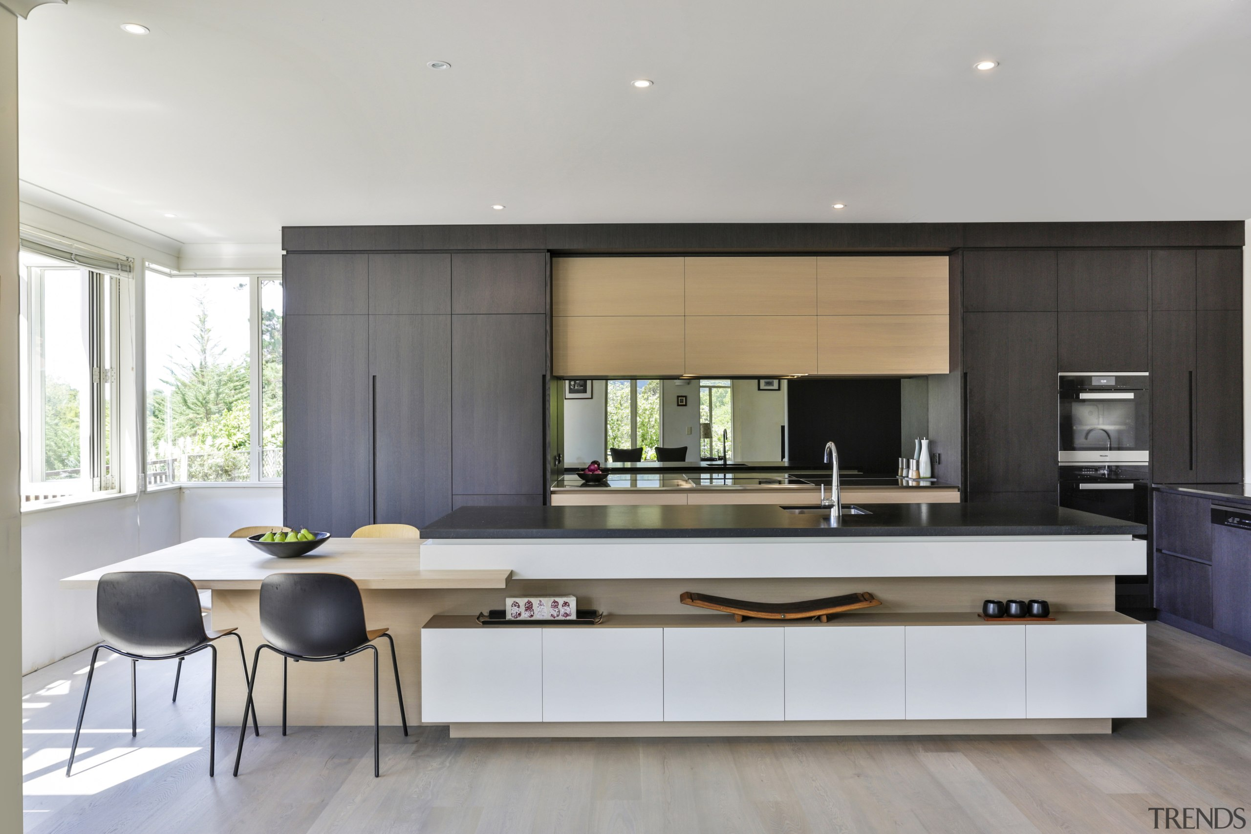 This clean-lined kitchen has a pared back almost
