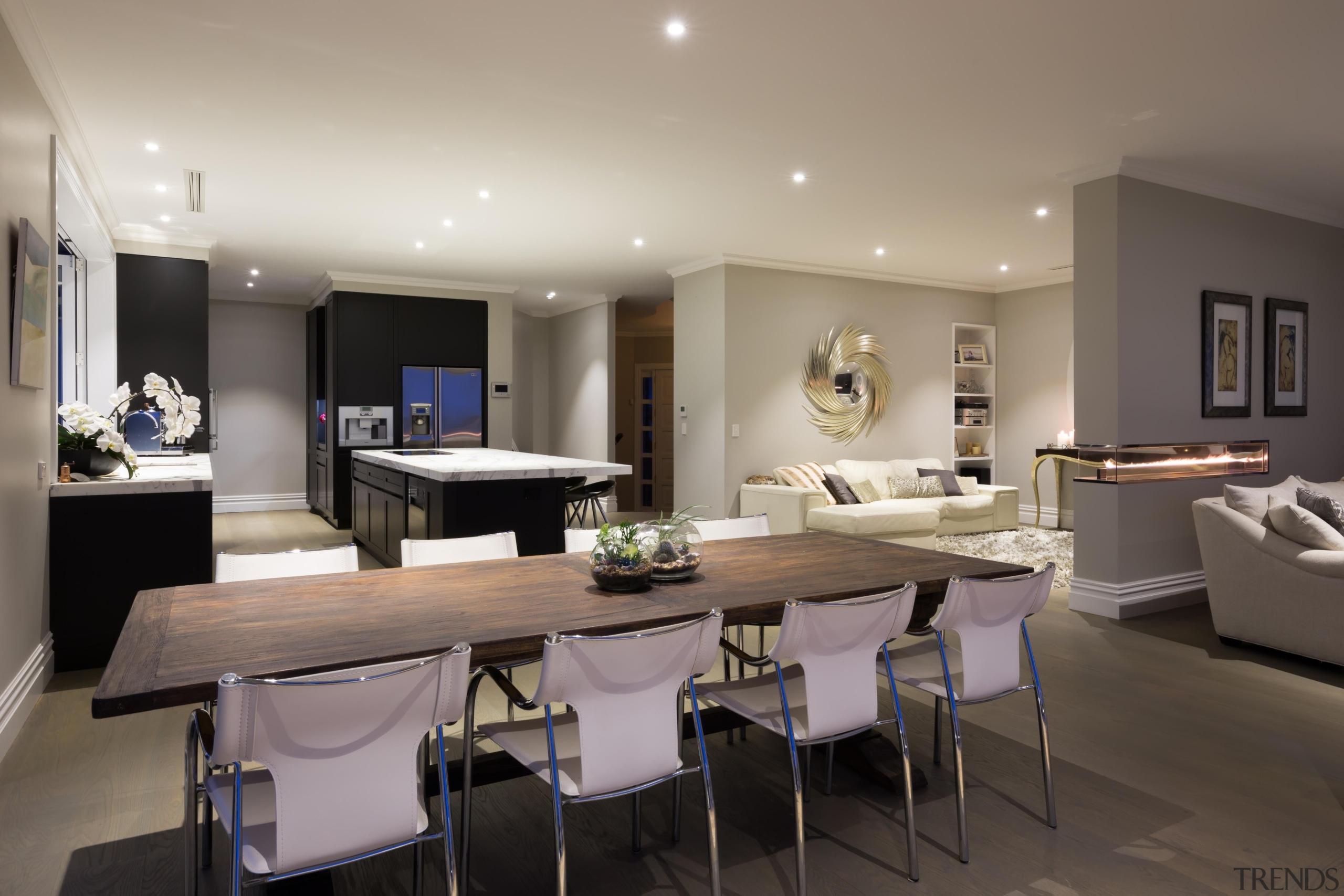 Img9016 - dining room   interior design   dining room, interior design, living room, real estate, room, gray, black