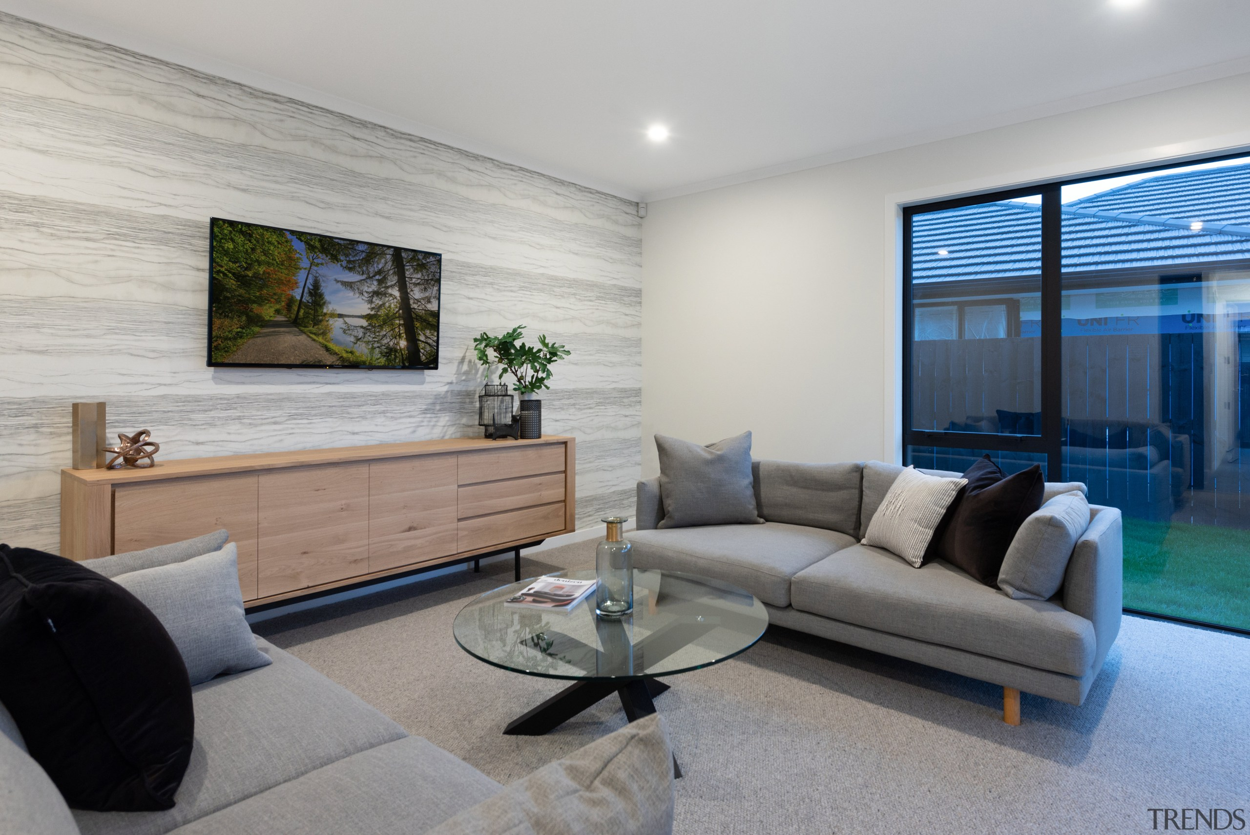Along with the adjacent open-plan living spaces, the