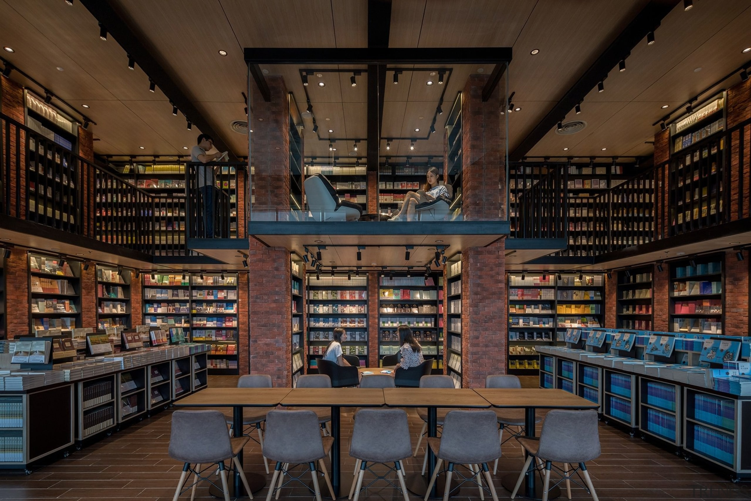 Architect: X+LivingPhotography by Shao Feng building, institution, library, library science, public library, black