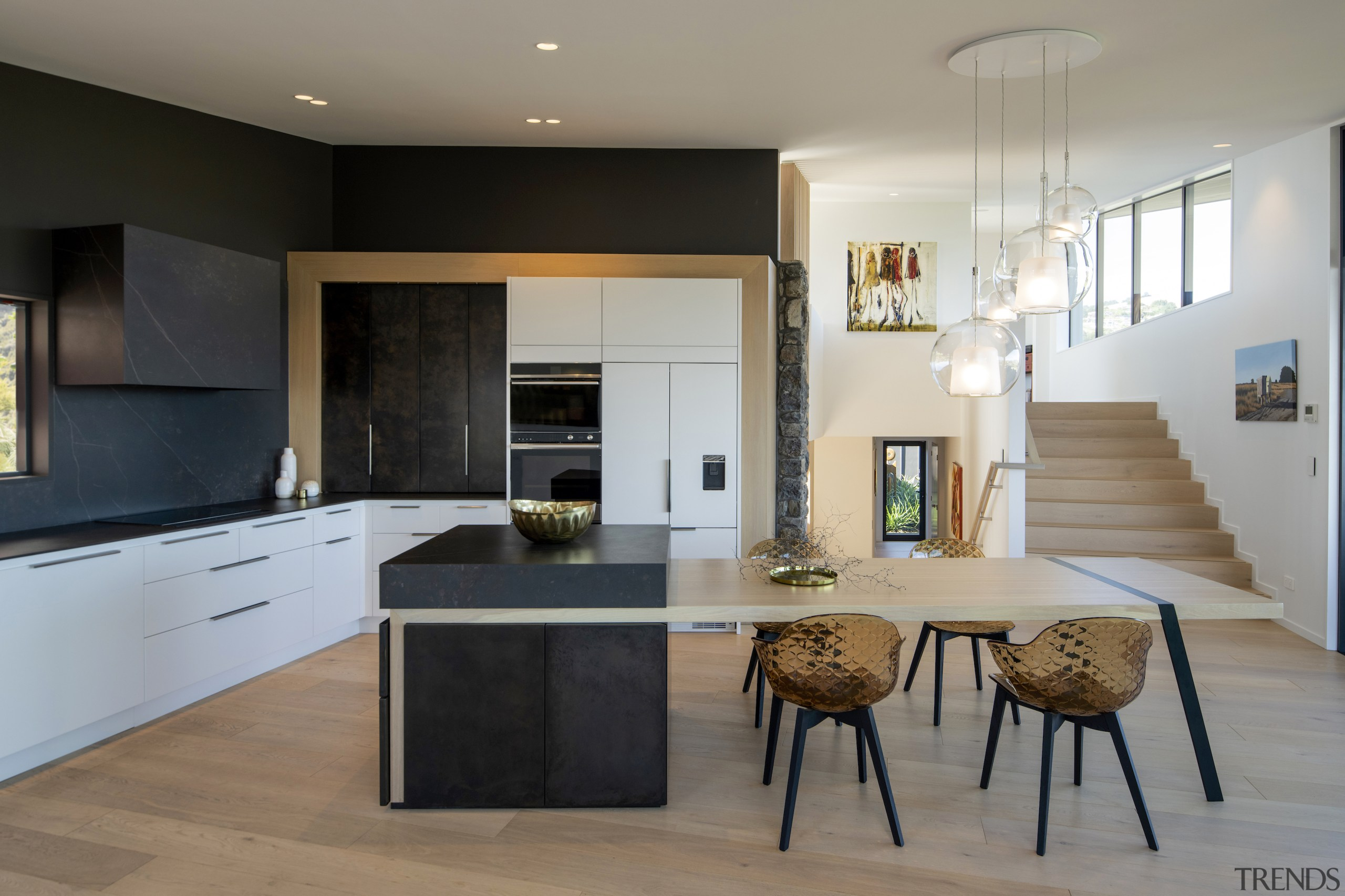 This functional, uncluttered kitchen stays true to the