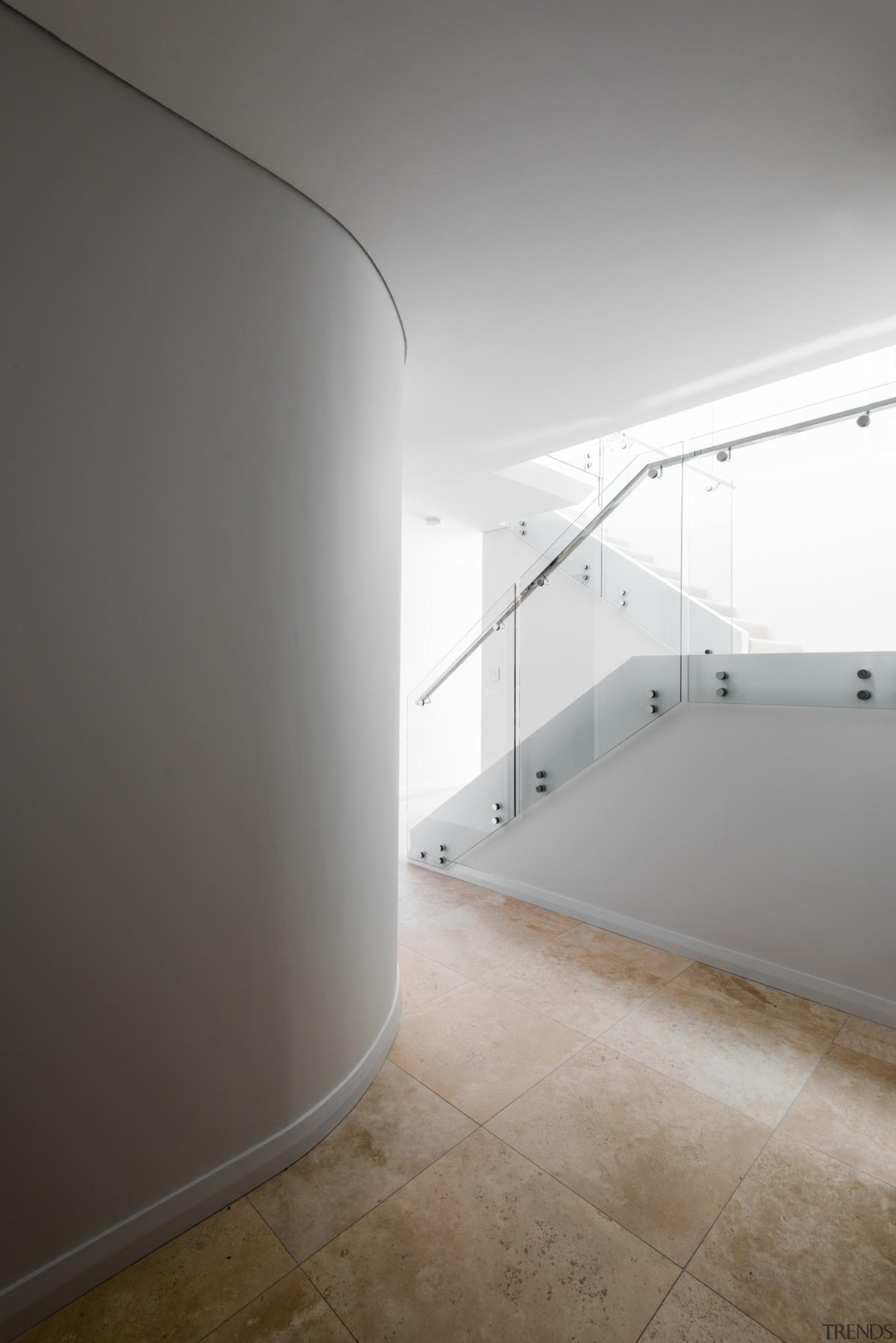There's no shortage of light here - There's angle, apartment, architecture, ceiling, daylighting, floor, glass, house, interior design, light, product design, property, wall, gray, white