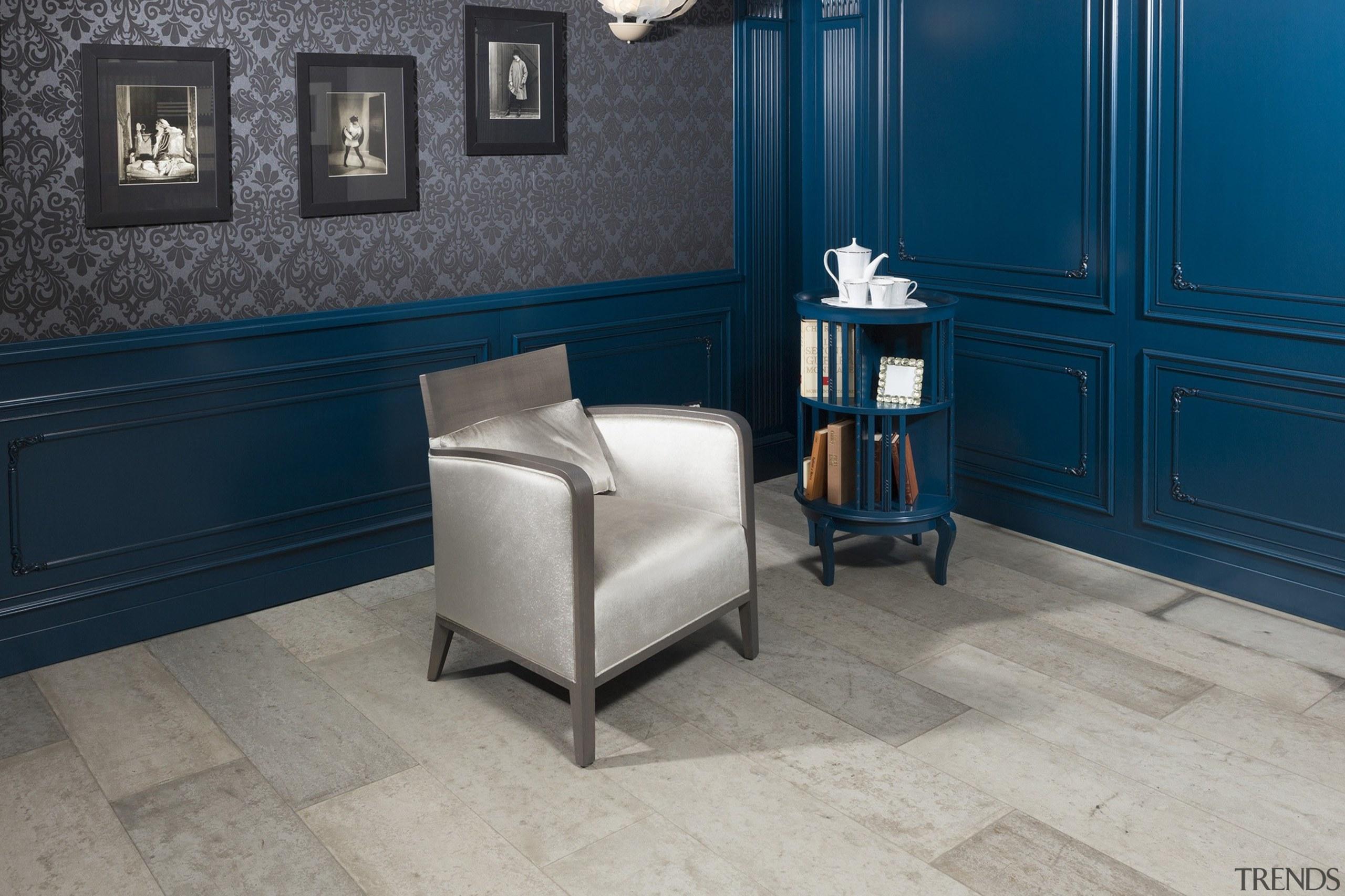 Blue house 2 - Blue house_2 - floor floor, flooring, furniture, hardwood, interior design, room, wall, wood, wood flooring, gray, blue