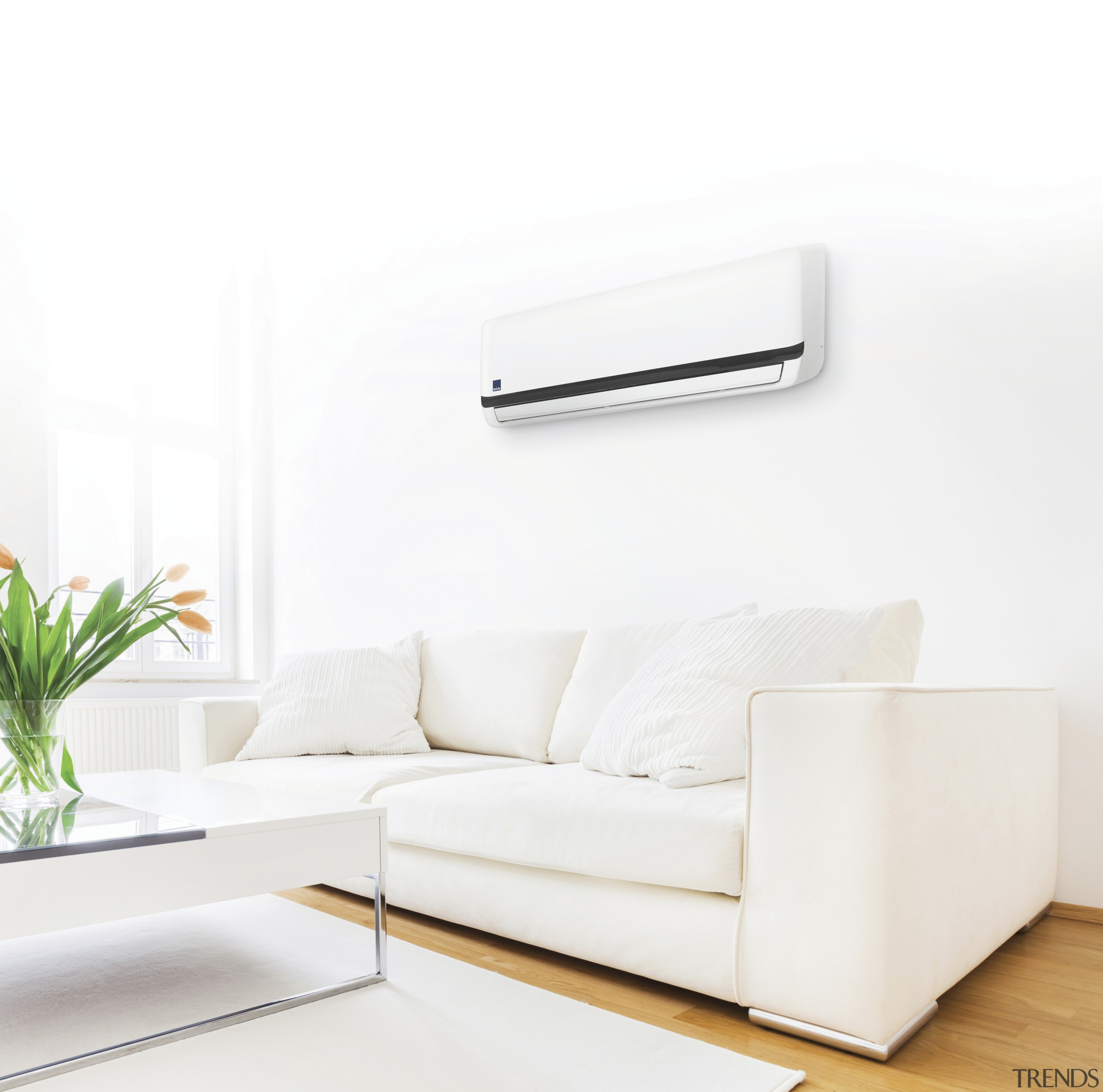 Brivis Hi-Wall Inverter Split System - Brivis Hi-Wall angle, couch, furniture, interior design, product, product design, sofa bed, table, white