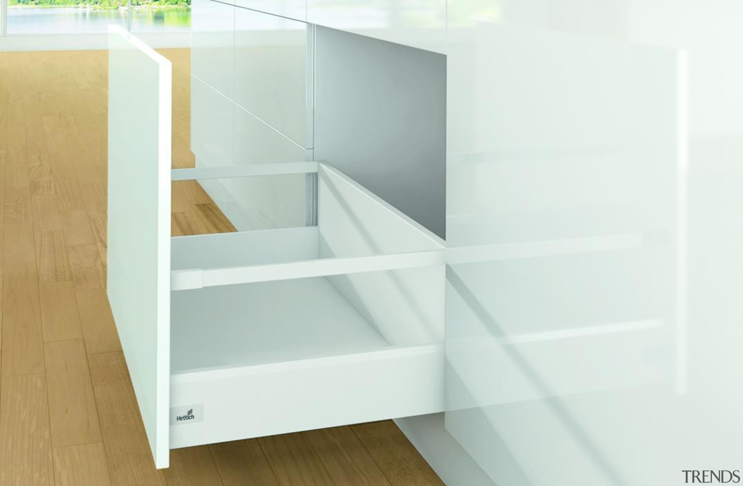 Great for storing large heavy appliances - Great chest of drawers, drawer, furniture, product, product design, shelf, shelving, white