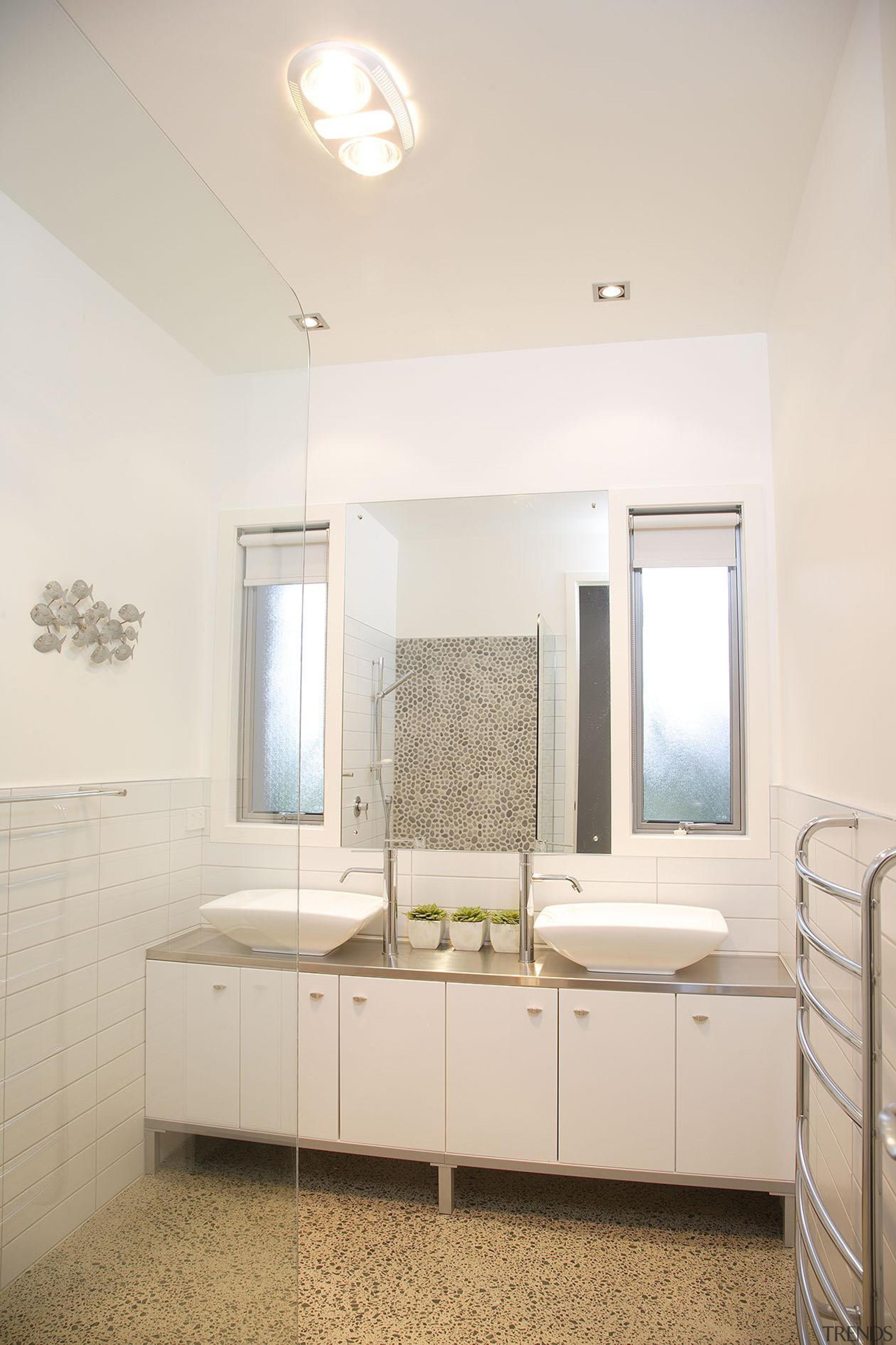 For more information, please visit www.gjgardner.co.nz bathroom, ceiling, daylighting, floor, home, interior design, real estate, room, sink, white