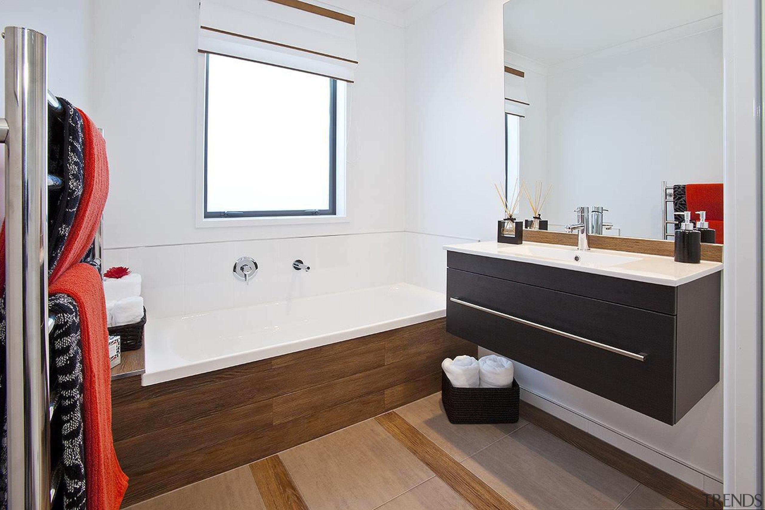 For more information, please visit www.gjgardner.co.nz bathroom, bathroom cabinet, floor, interior design, room, sink, white