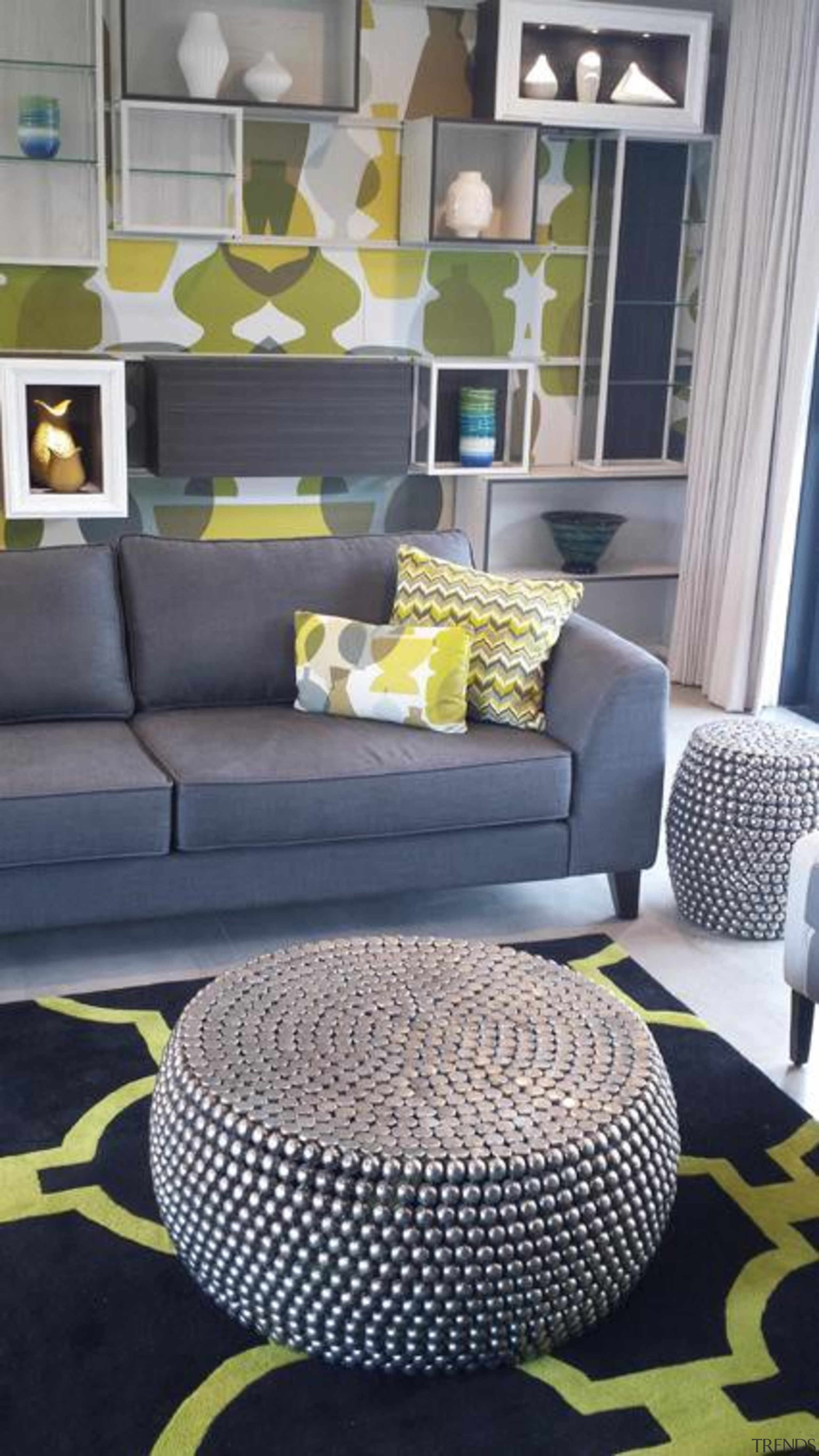 family room after 2.jpg - family_room_after_2.jpg - chair chair, couch, floor, flooring, furniture, home, interior design, living room, room, table, wall, yellow, gray