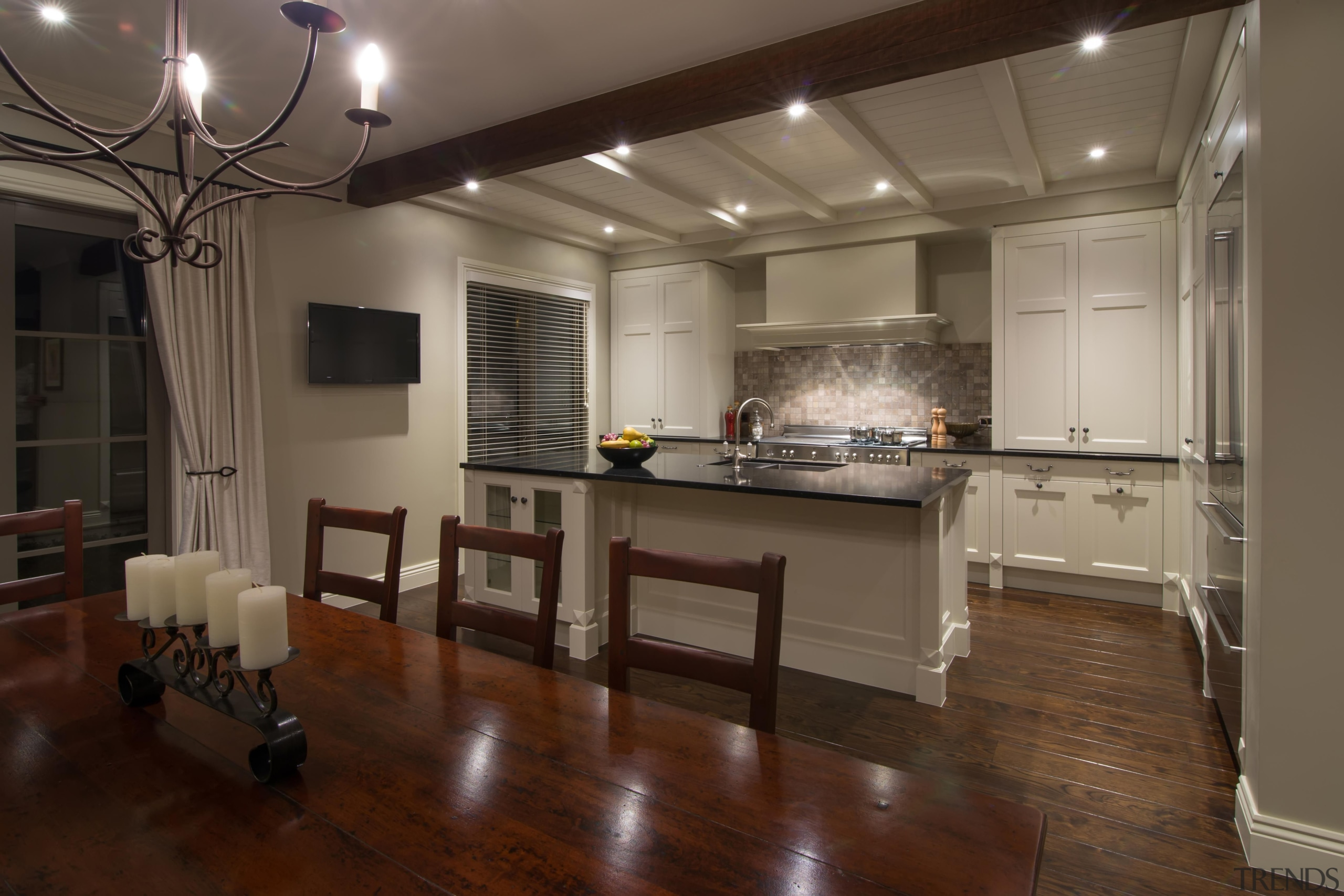 Img3536 - ceiling | countertop | floor | ceiling, countertop, floor, flooring, hardwood, interior design, kitchen, real estate, room, wood flooring, brown