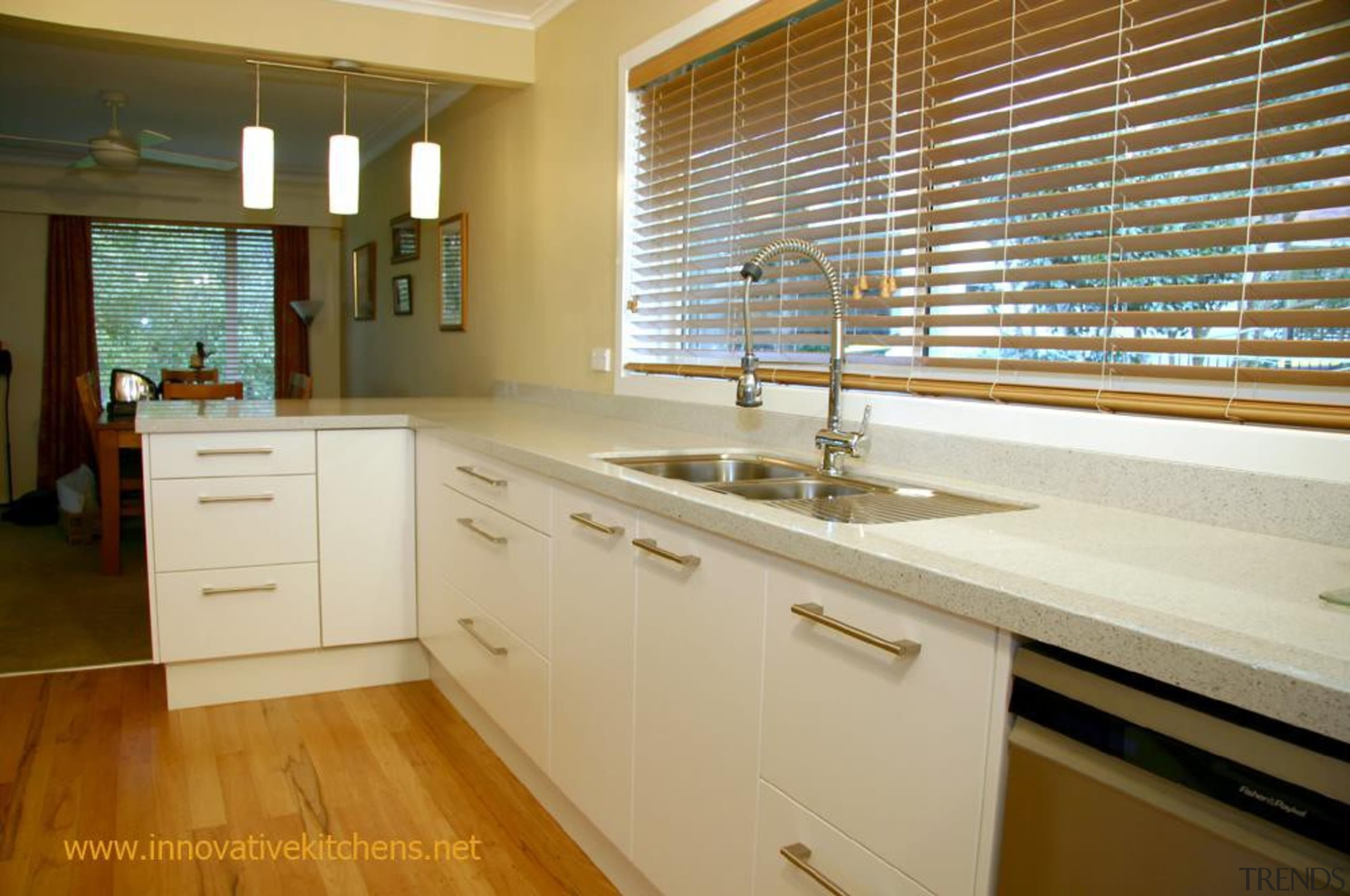 modernbirkenhead5.jpg - modernbirkenhead5.jpg - cabinetry   countertop   cabinetry, countertop, floor, flooring, hardwood, home, interior design, kitchen, property, real estate, room, window, wood, brown, orange