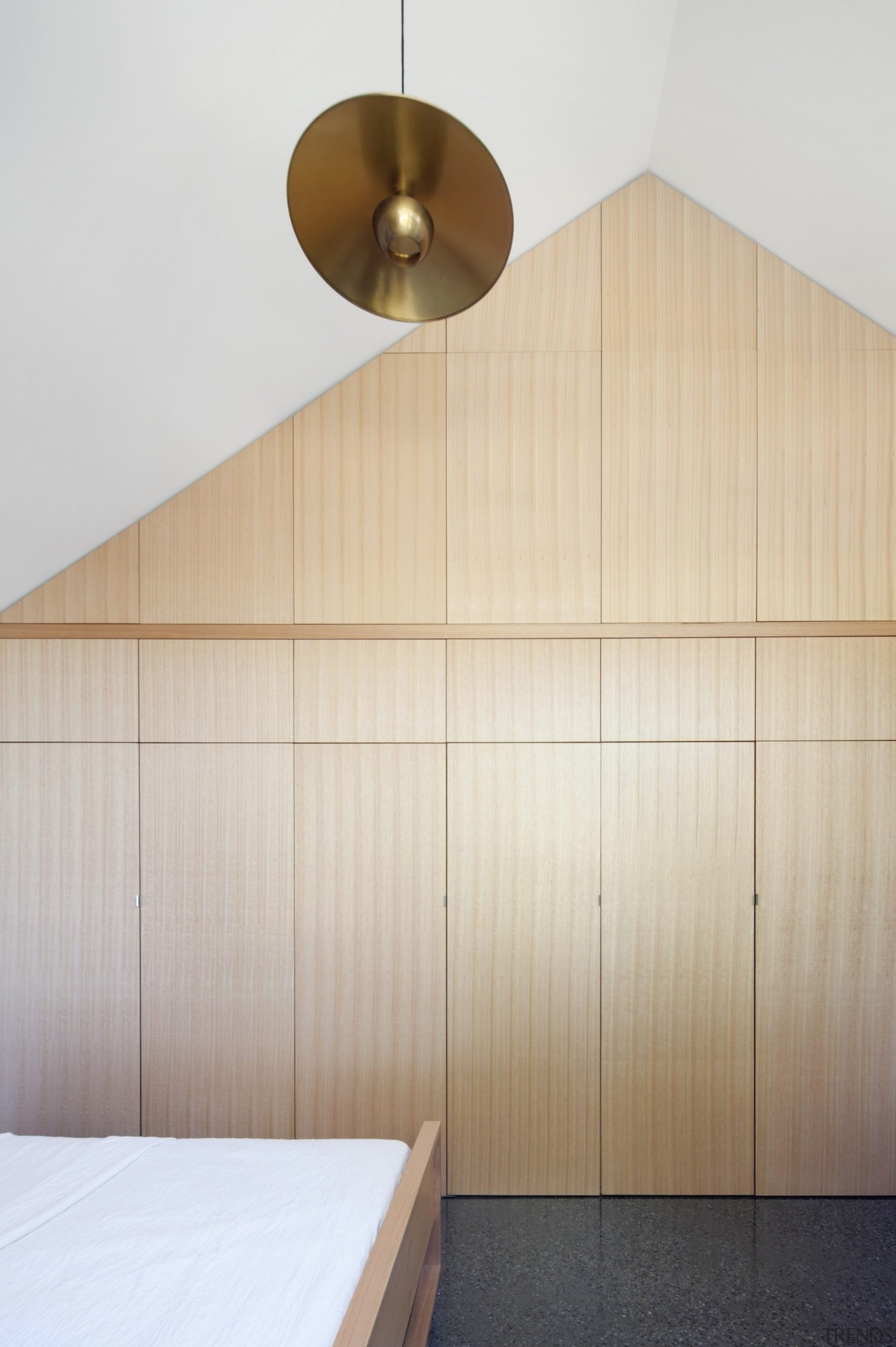 Architect: Steffen Welsch ArchitectsPhotography by Shannon McGrath architecture, ceiling, interior design, lighting, plywood, product design, wall, wood, gray