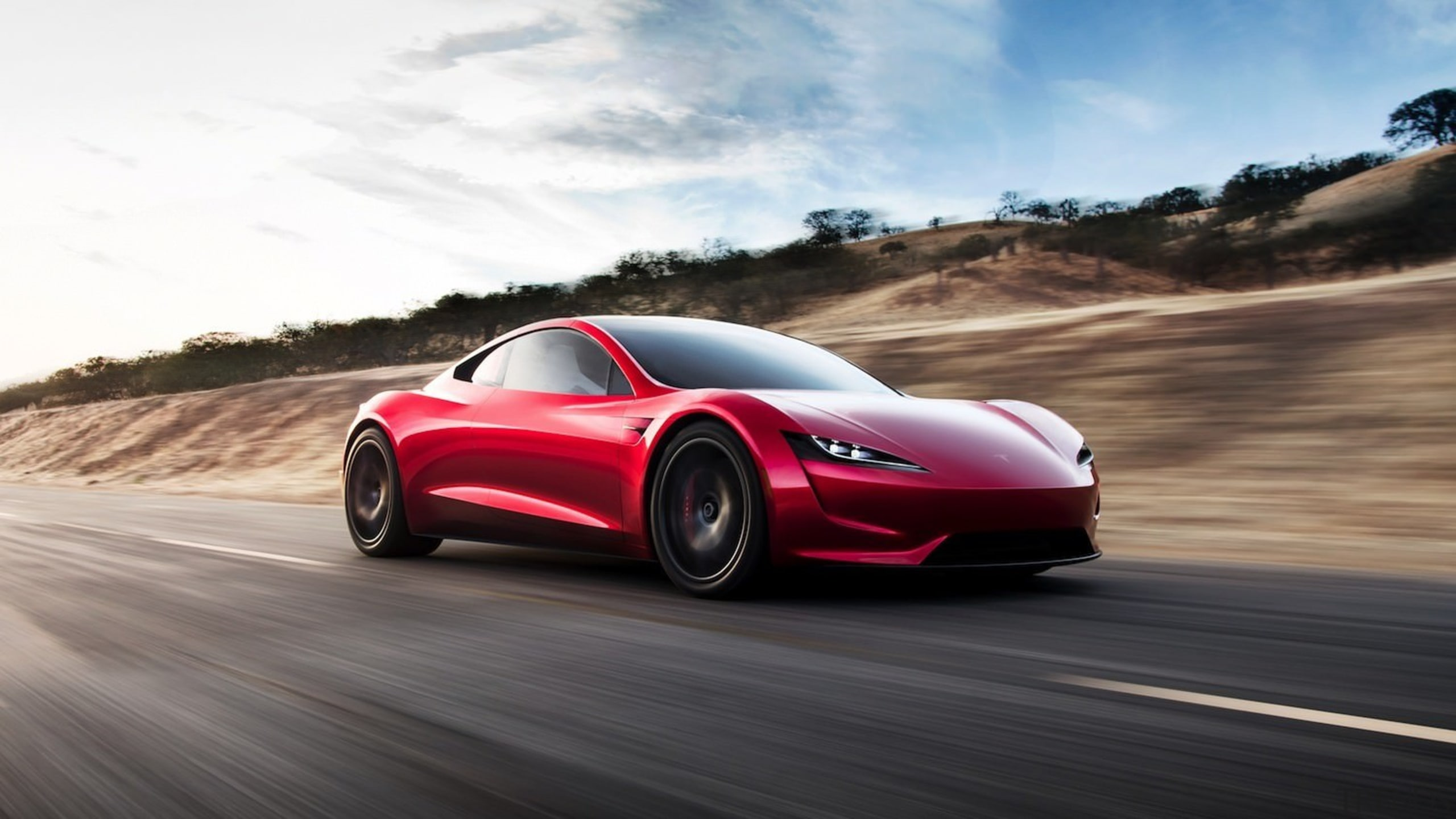 Tesla's new Roadster - Tesla's new Roadster - automotive design, car, computer wallpaper, concept car, family car, land vehicle, luxury vehicle, mid size car, motor vehicle, muscle car, performance car, personal luxury car, race car, sports car, supercar, vehicle, white, black