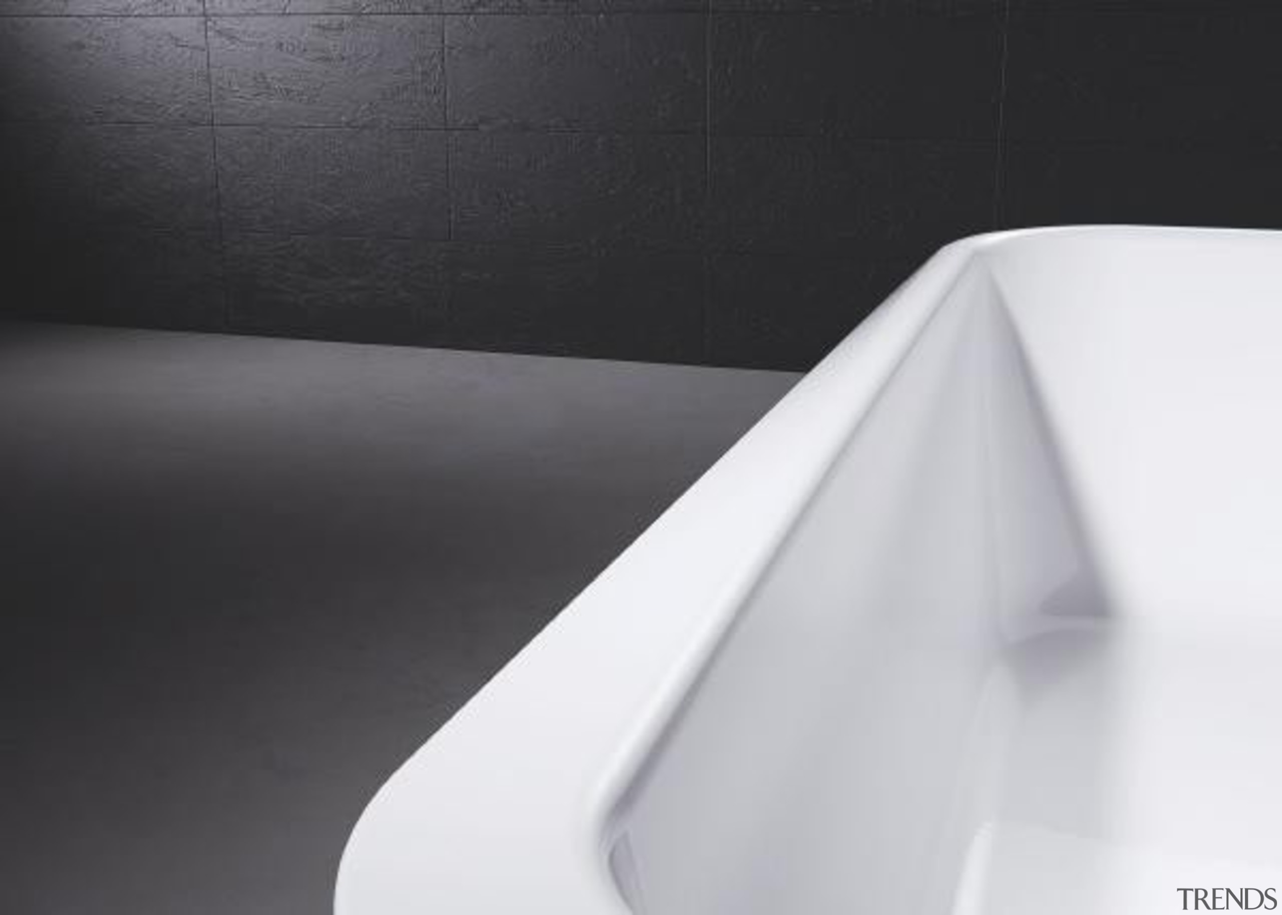 Working with star designer Arik Levy, Kaldewei has angle, bathroom sink, black and white, line, plumbing fixture, product design, tap, black, white