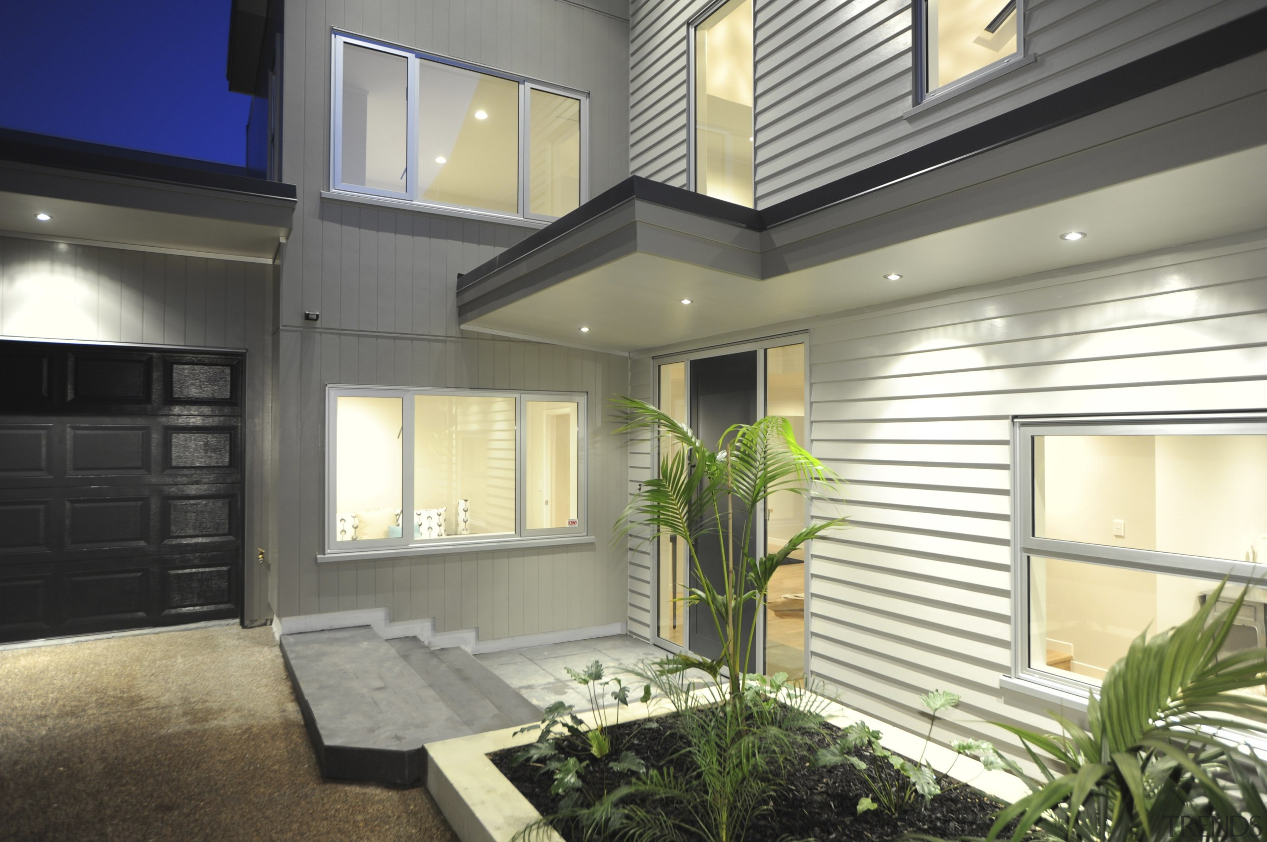 Axon Panel and Linea Weatherboard - Axon Panel architecture, daylighting, estate, facade, home, house, interior design, property, real estate, siding, window, gray