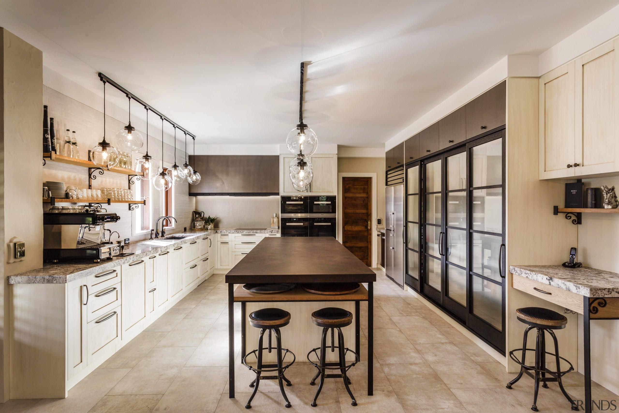 Same space, quite different agenda  this reinvented cabinetry, countertop, cuisine classique, interior design, kitchen, gray