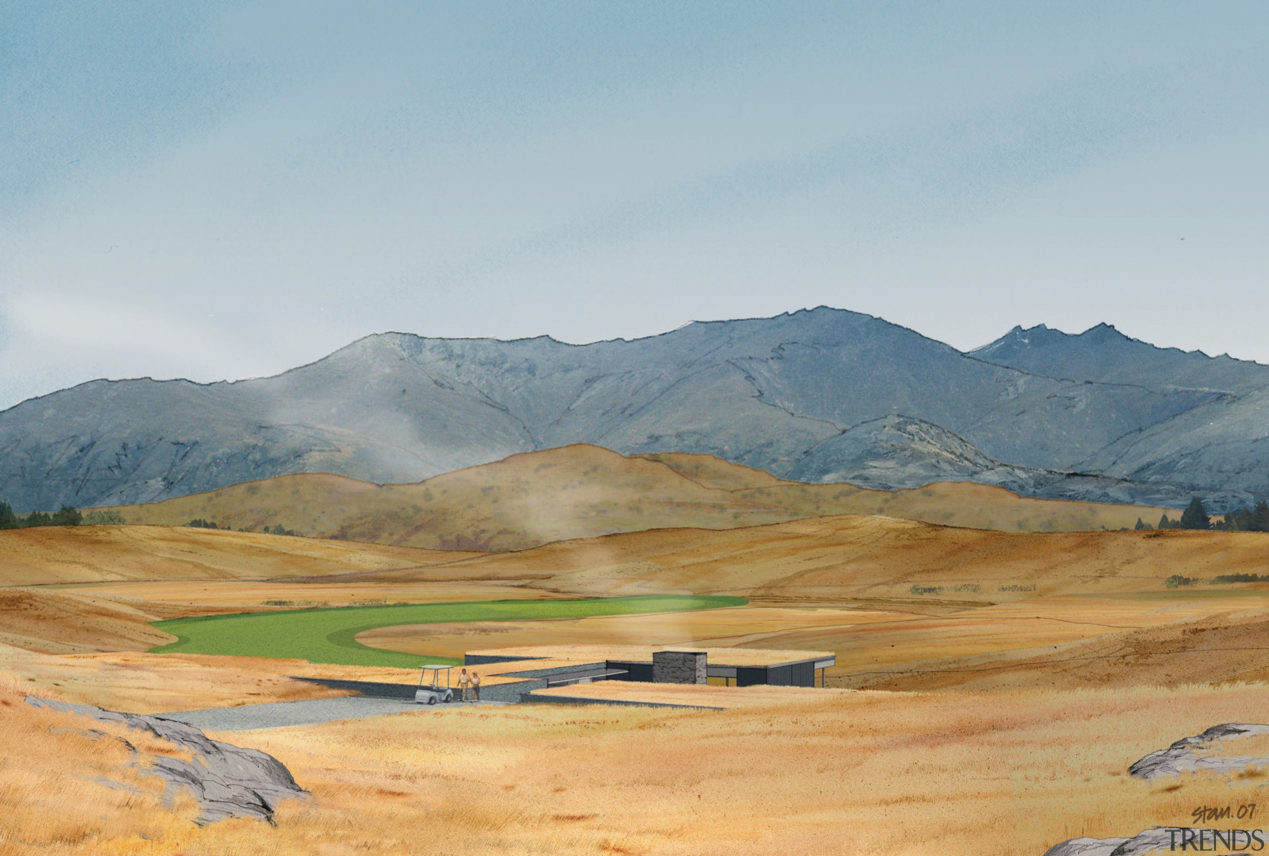 conceptual view of the residential lots proposed for cloud, ecoregion, ecosystem, elevation, fell, field, grassland, highland, hill, landscape, mountain, mountain range, mountainous landforms, plain, plateau, rural area, sky, steppe, tundra, gray