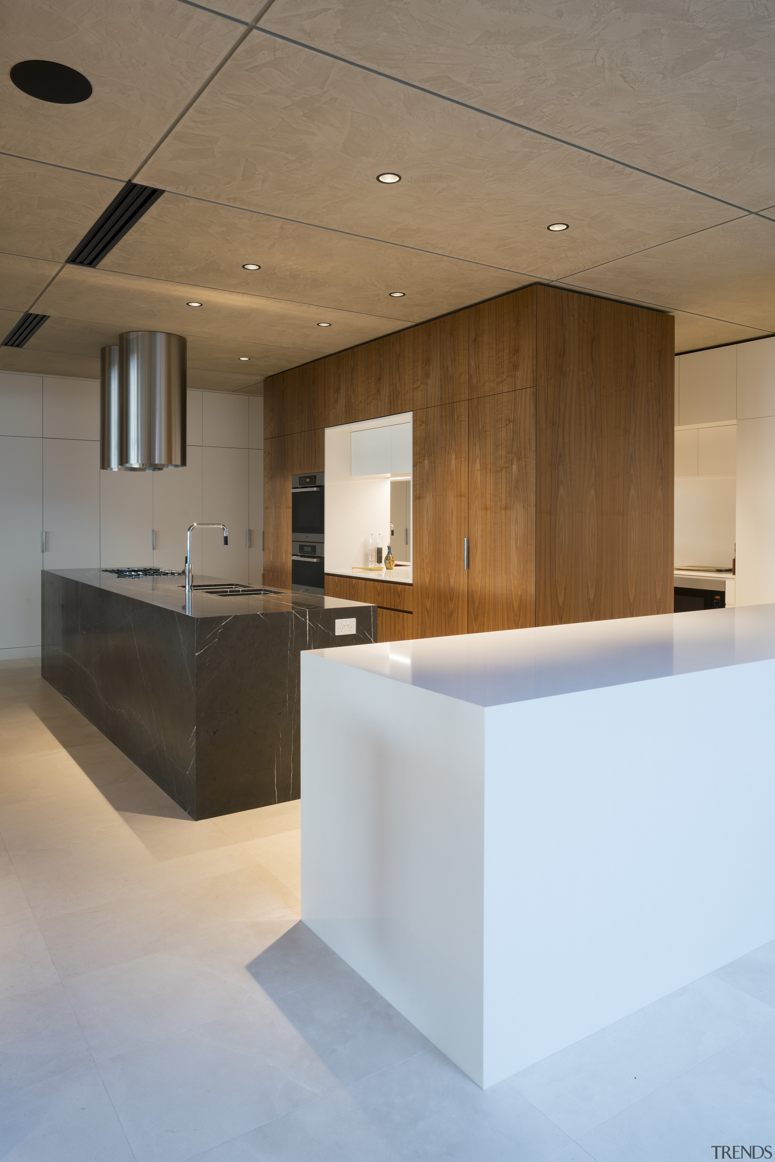 Similar but not the same  this kitchens architecture, ceiling, countertop, daylighting, floor, flooring, house, interior design, kitchen, lobby, product design, real estate, brown