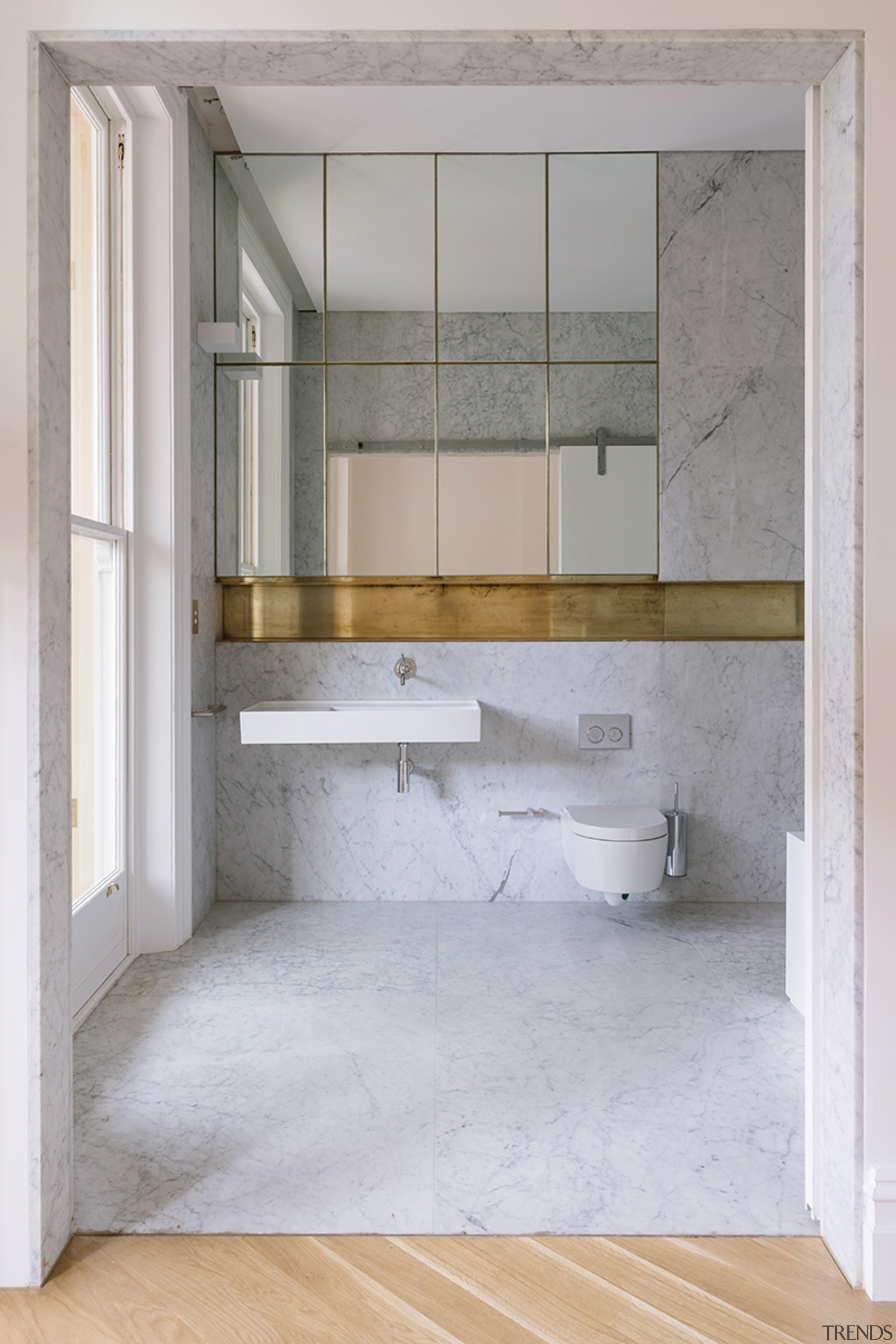 Read the full story architecture, bathroom, building, ceiling, door, floor, flooring, furniture, glass, house, interior design, material property, property, room, tile, wall, window, gray