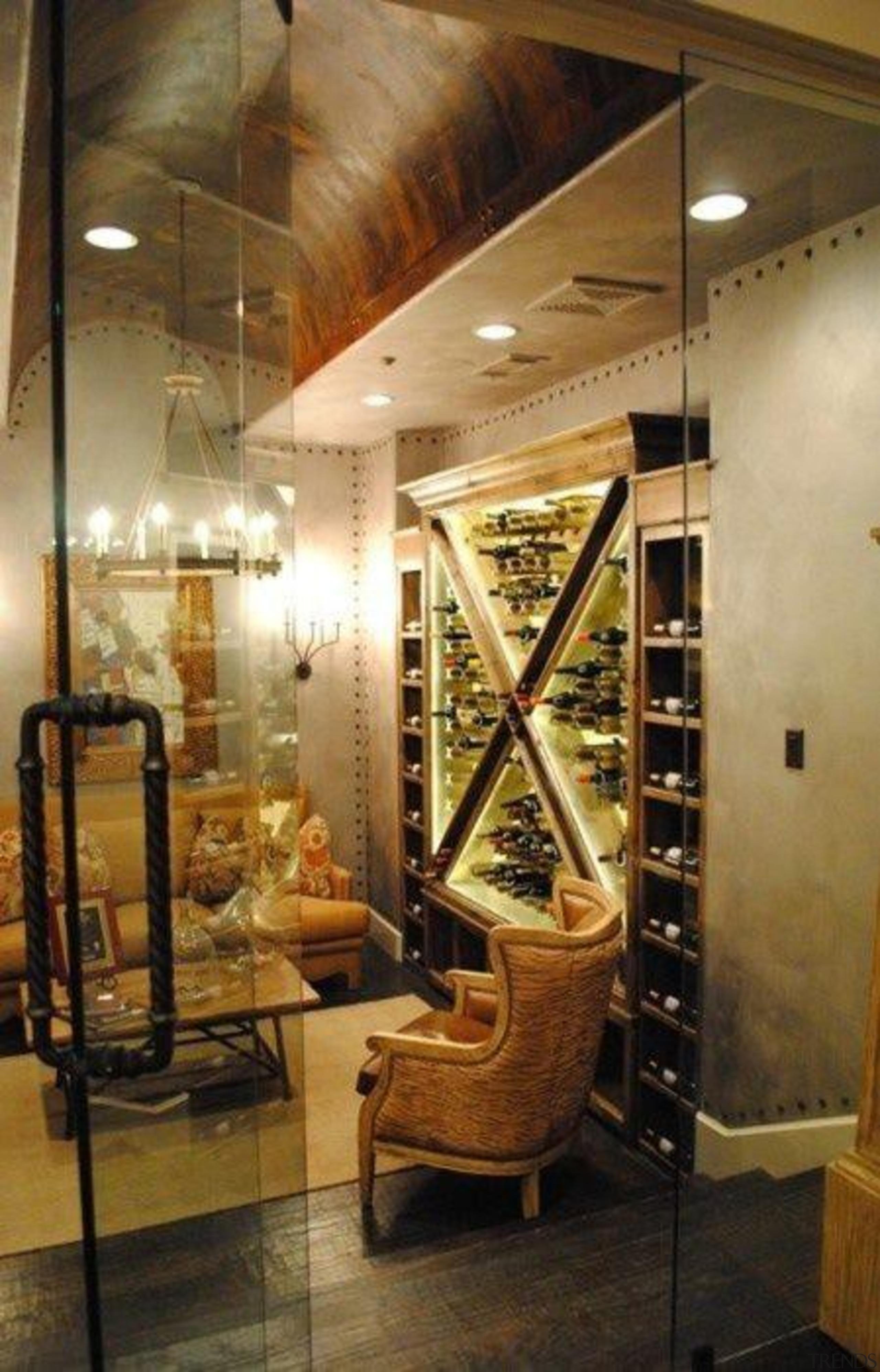 Modern Wine Cellar Ideas - Modern Wine Cellar ceiling, furniture, interior design, brown