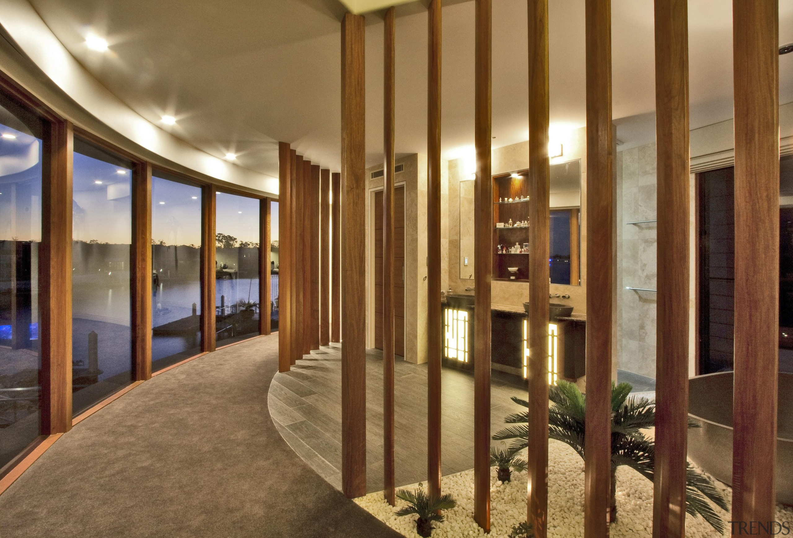 Winner Bathroom of the Year Queensland 2013 by interior design, lobby, real estate, brown