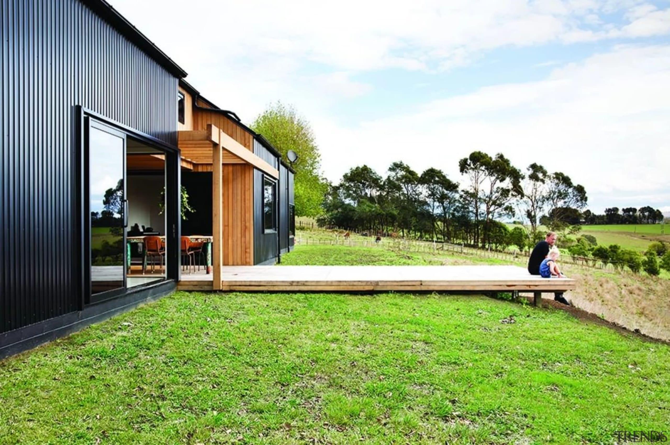Dimondclad Rib2 - Dimondclad Rib2 - architecture | architecture, cottage, facade, grass, home, house, landscape, lawn, leisure, property, real estate, residential area, yard, white, green