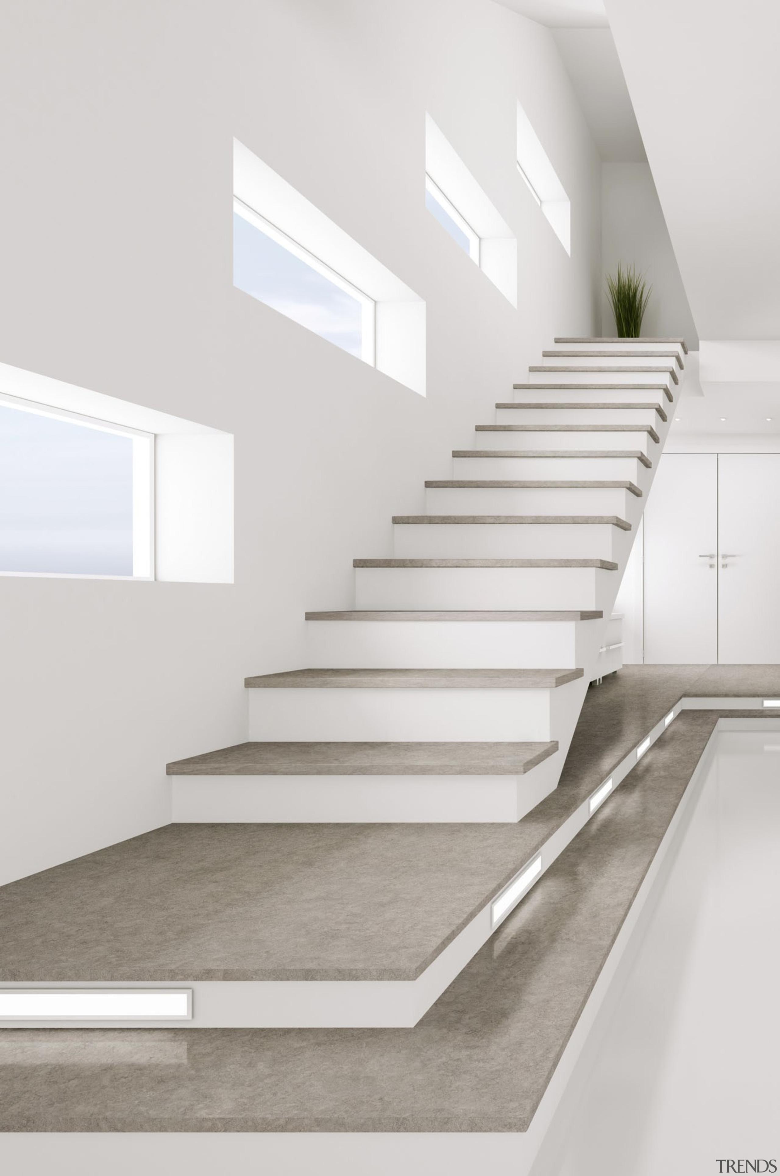 VEGHA Escaleras - VEGHA Escaleras - angle   angle, architecture, daylighting, handrail, interior design, product design, stairs, white