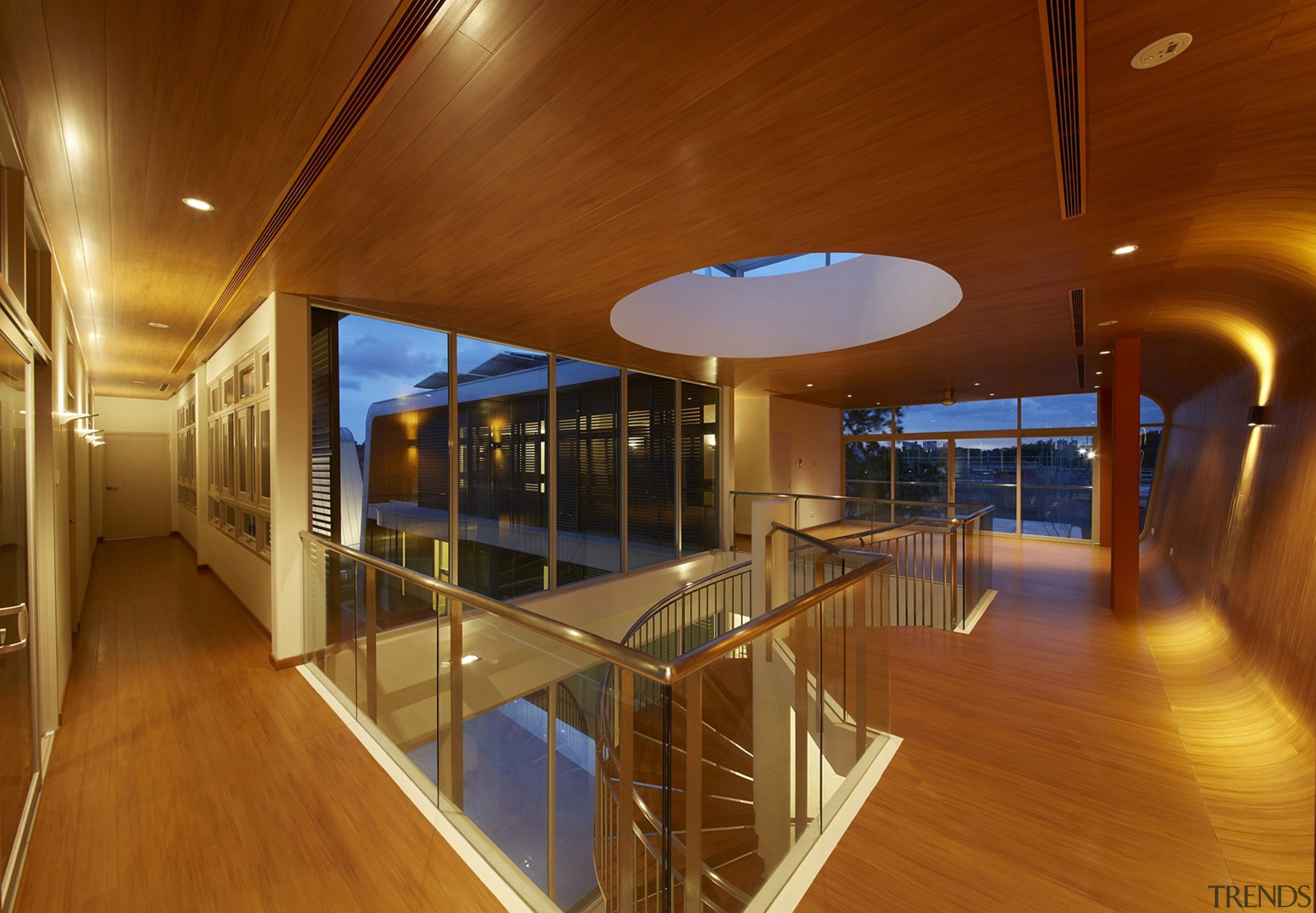B House 02 - architecture   ceiling   architecture, ceiling, daylighting, floor, flooring, house, interior design, real estate, wood, brown