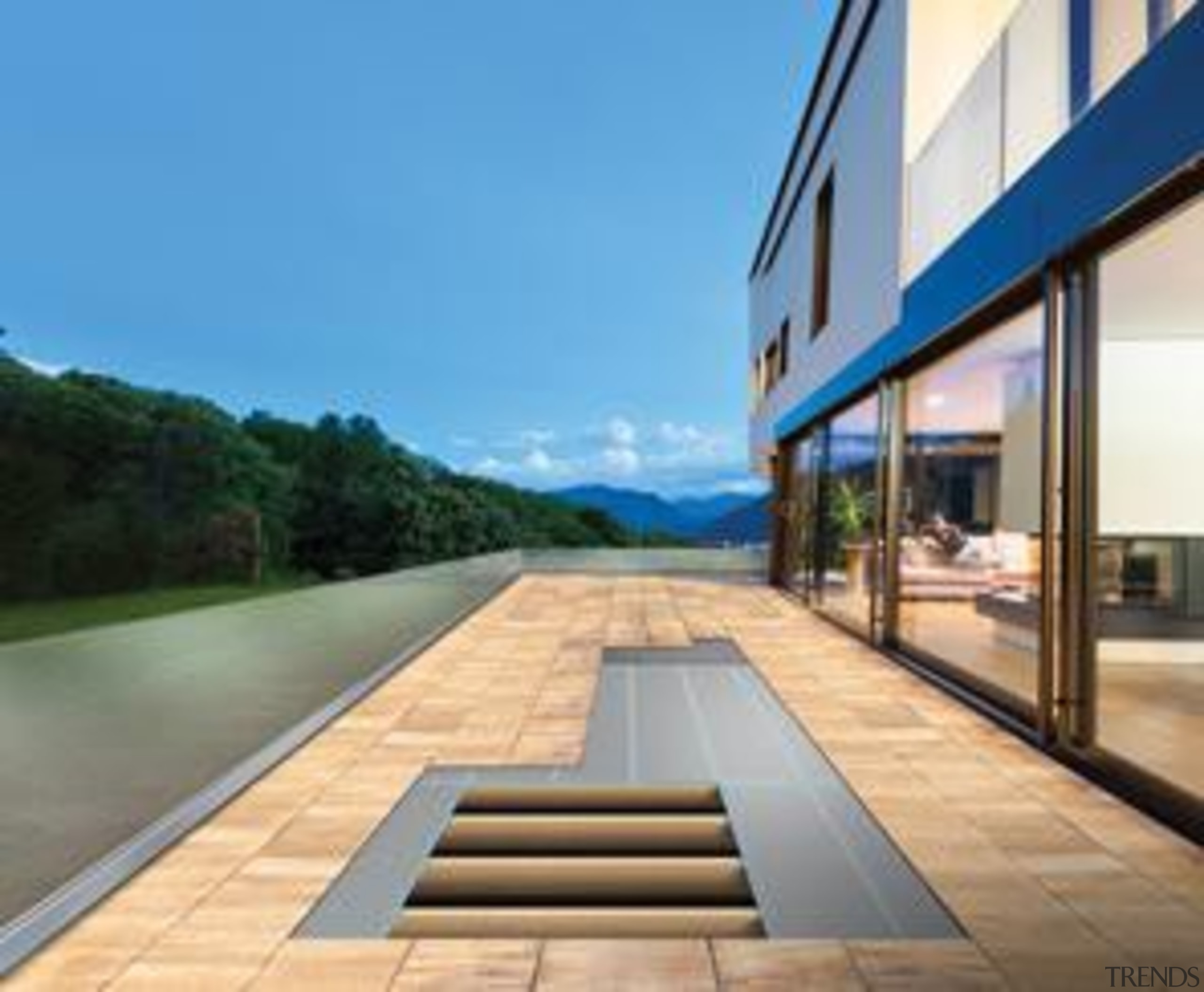 structural exterior flooring - structural exterior flooring - architecture, daylighting, floor, home, house, real estate, window, teal