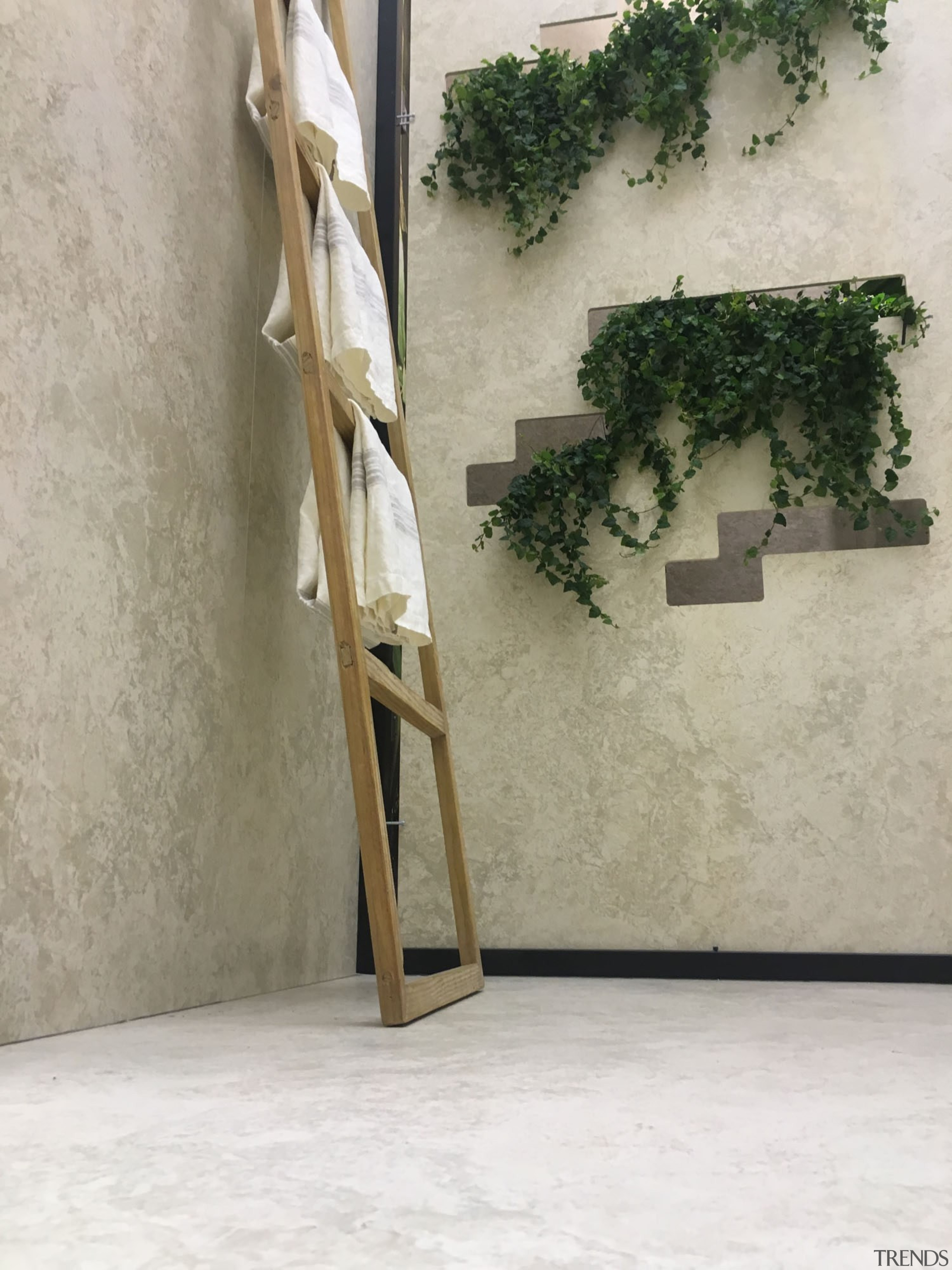 Cosentino Salone Milano 16 - The Balinese Garden floor, furniture, product design, wall, wood, gray