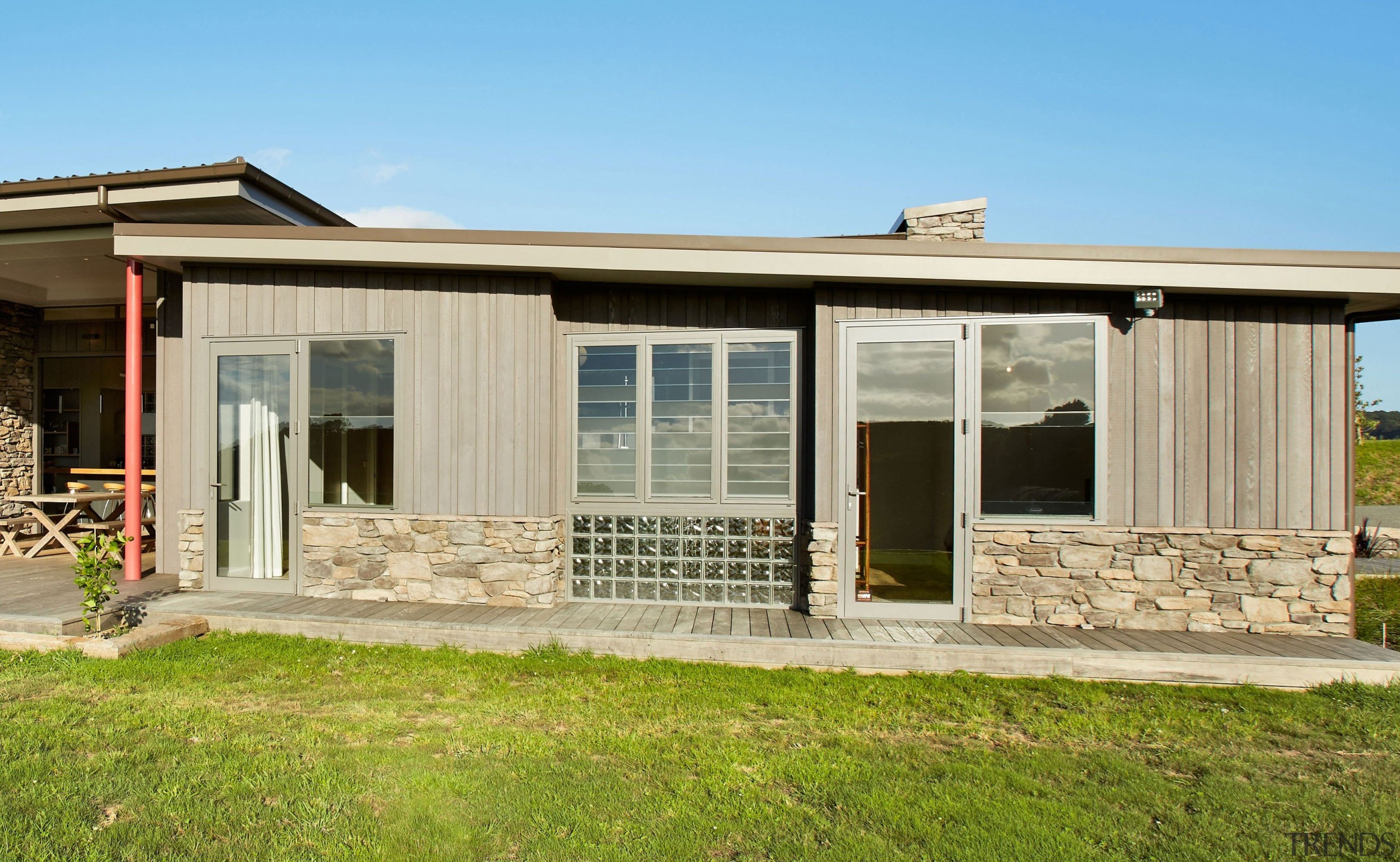 See the range here https://www.fairviewwindows.co.nz/windows/ cottage, elevation, facade, home, house, property, real estate, window, brown, teal