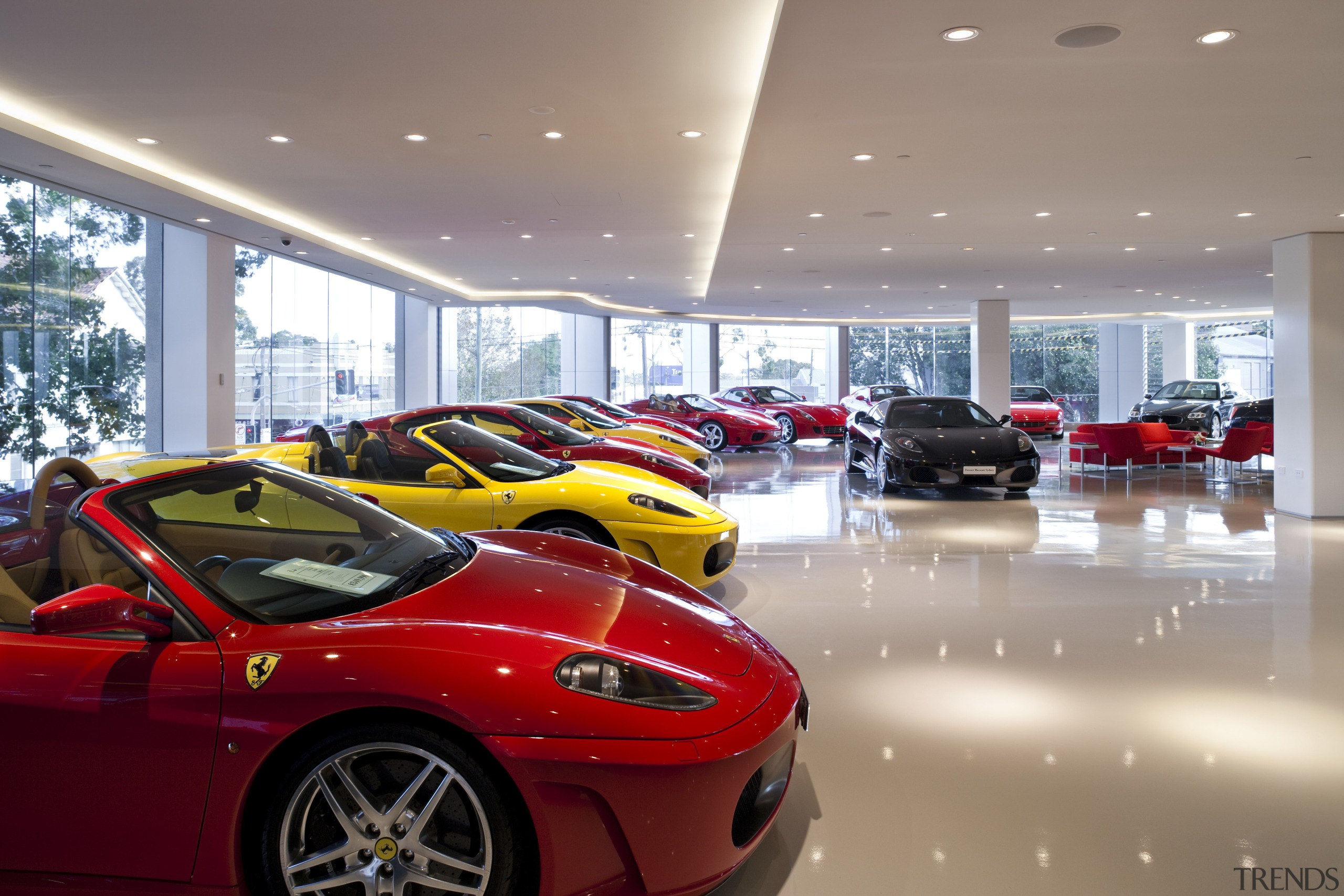 Ferrari Showroom in Australia - Ferrari Showroom in auto show, automotive design, car, ferrari f430, land vehicle, luxury vehicle, motor vehicle, performance car, race car, red, sports car, supercar, vehicle, gray