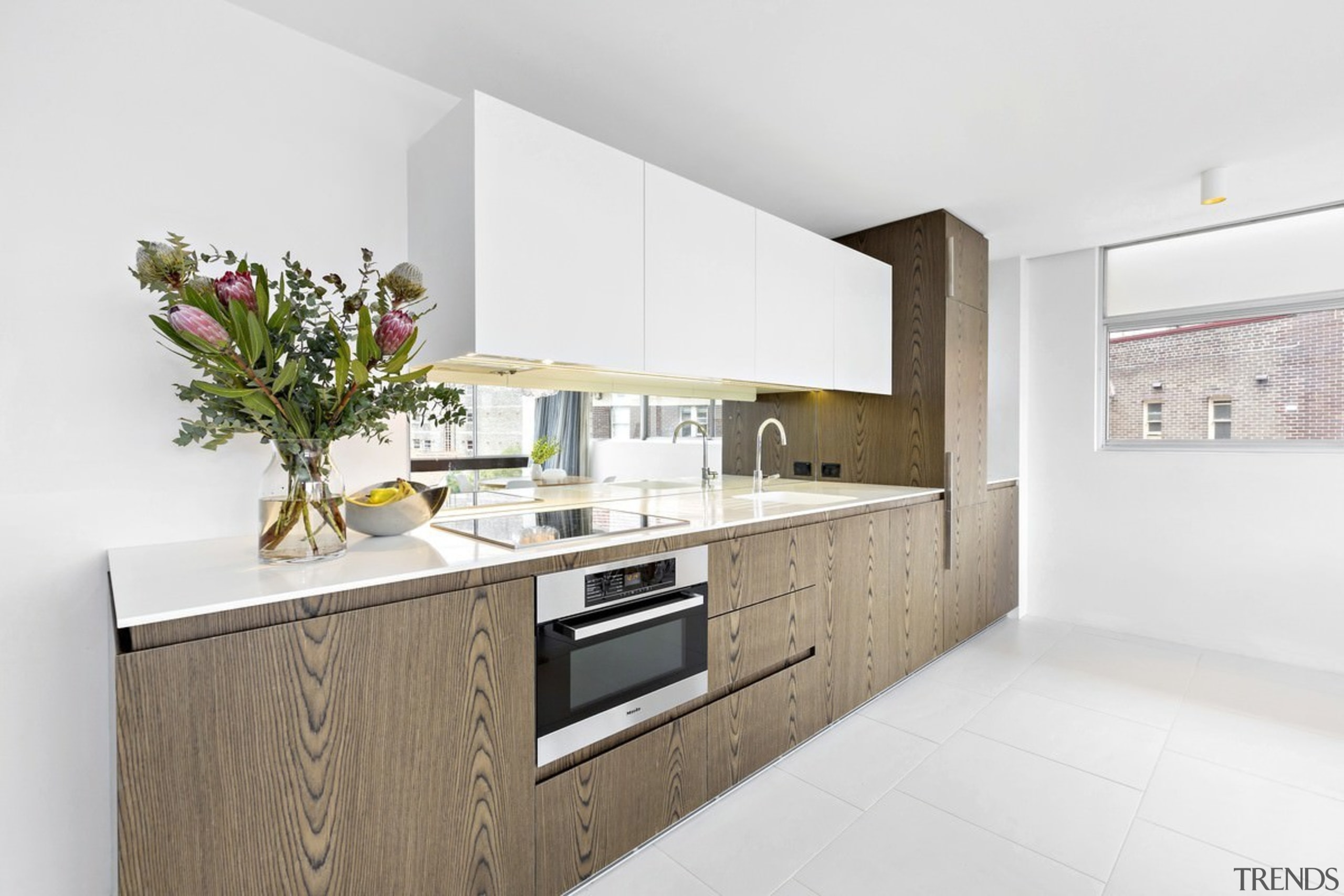 There's no shortage of natural light inside - countertop, interior design, kitchen, property, real estate, white
