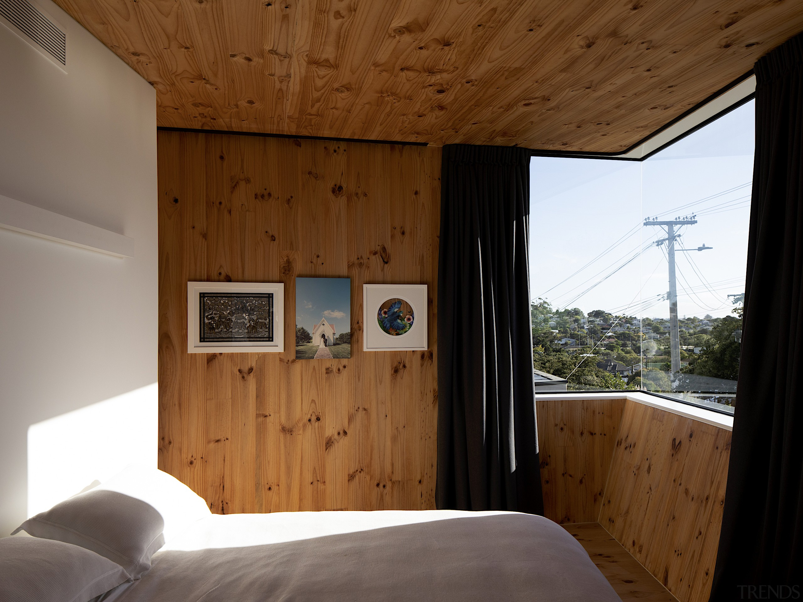 Structurally, the CLT panels create a box beam brown
