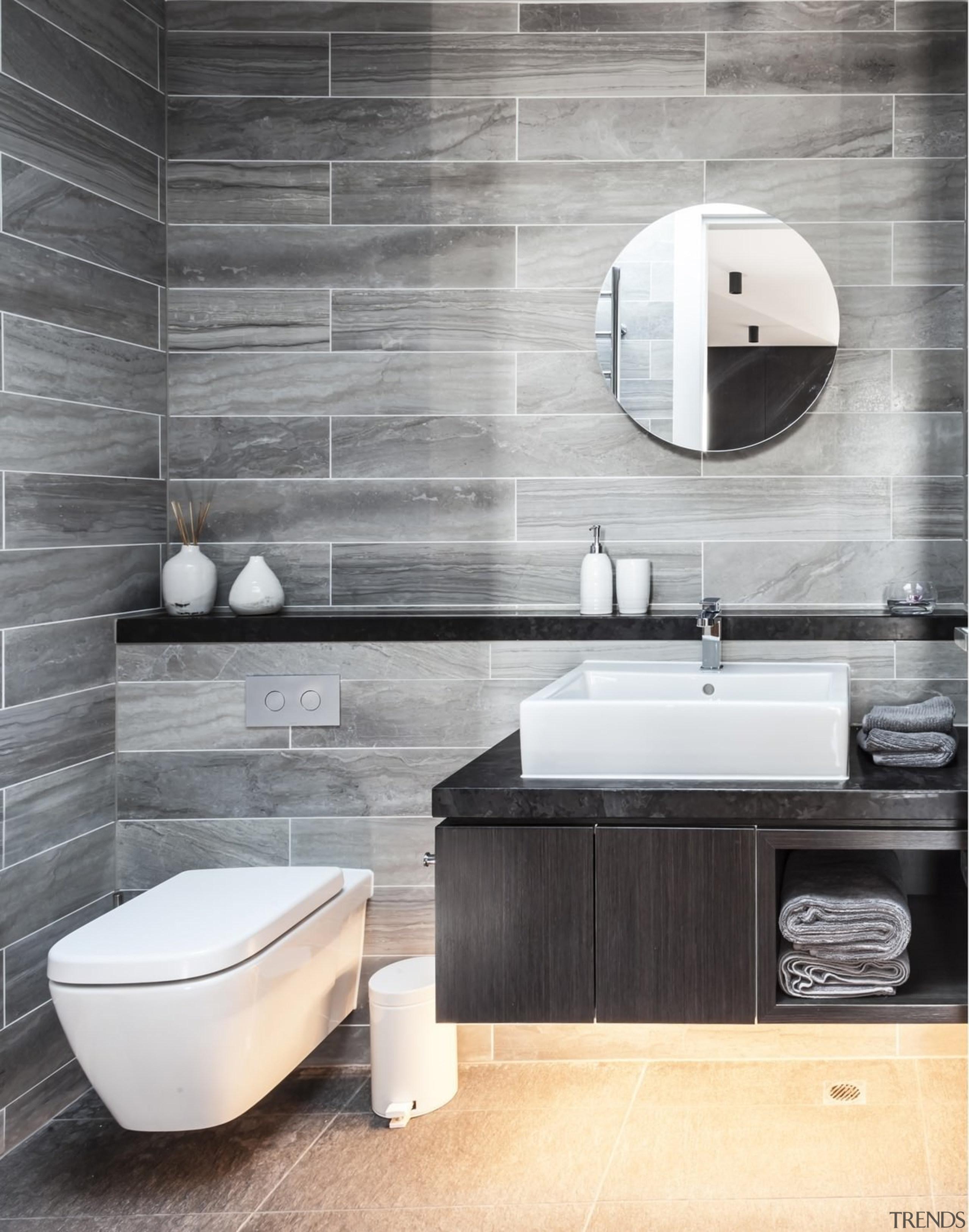Architect: mcmahon and nerlich architectsPhotography by superk bathroom, bathroom accessory, bathroom sink, bidet, ceramic, floor, flooring, interior design, plumbing fixture, product design, sink, tap, tile, toilet seat, wall, gray, white
