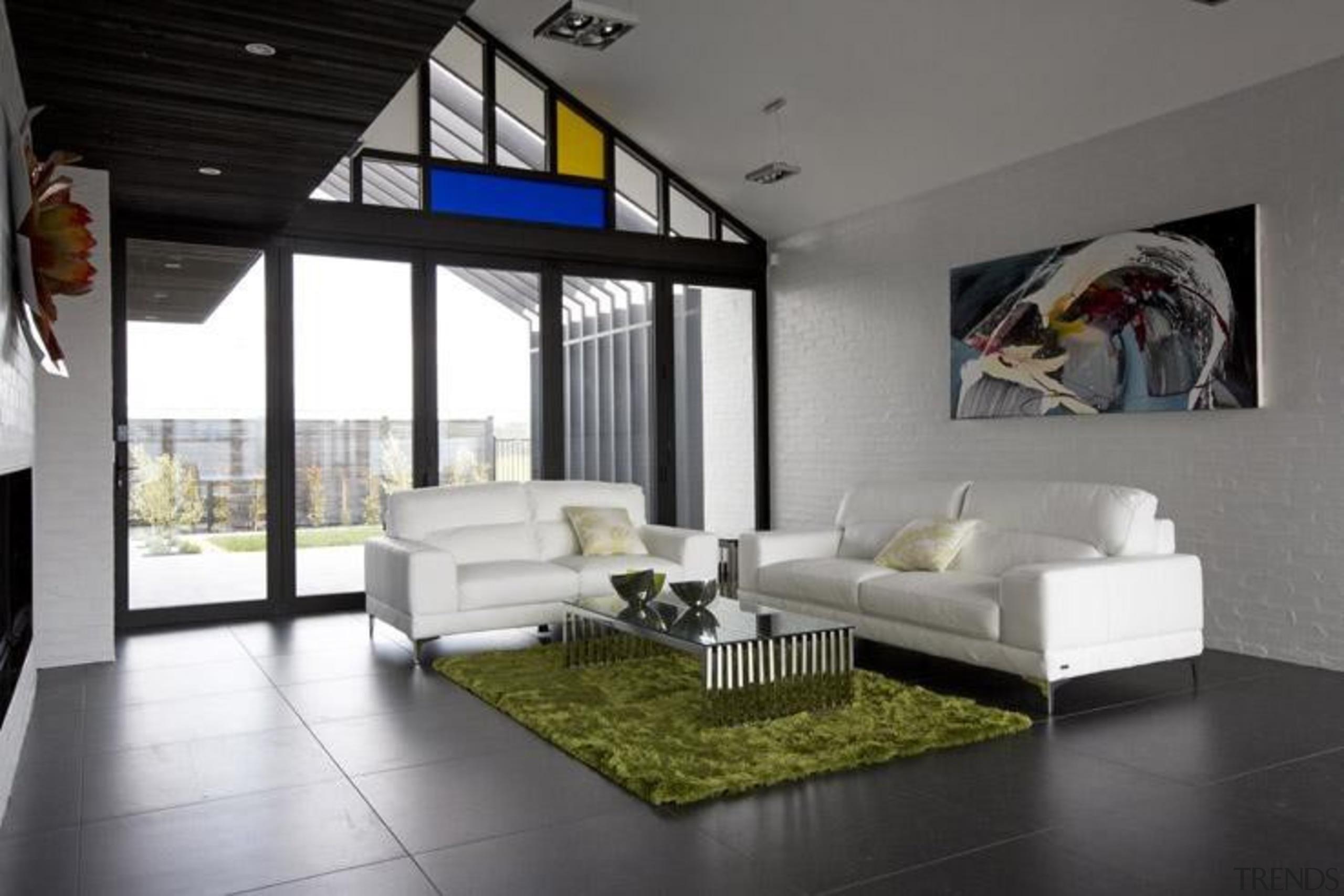 Ivory black lounge floor. - Blue Mountain Range architecture, ceiling, floor, house, interior design, living room, gray, black