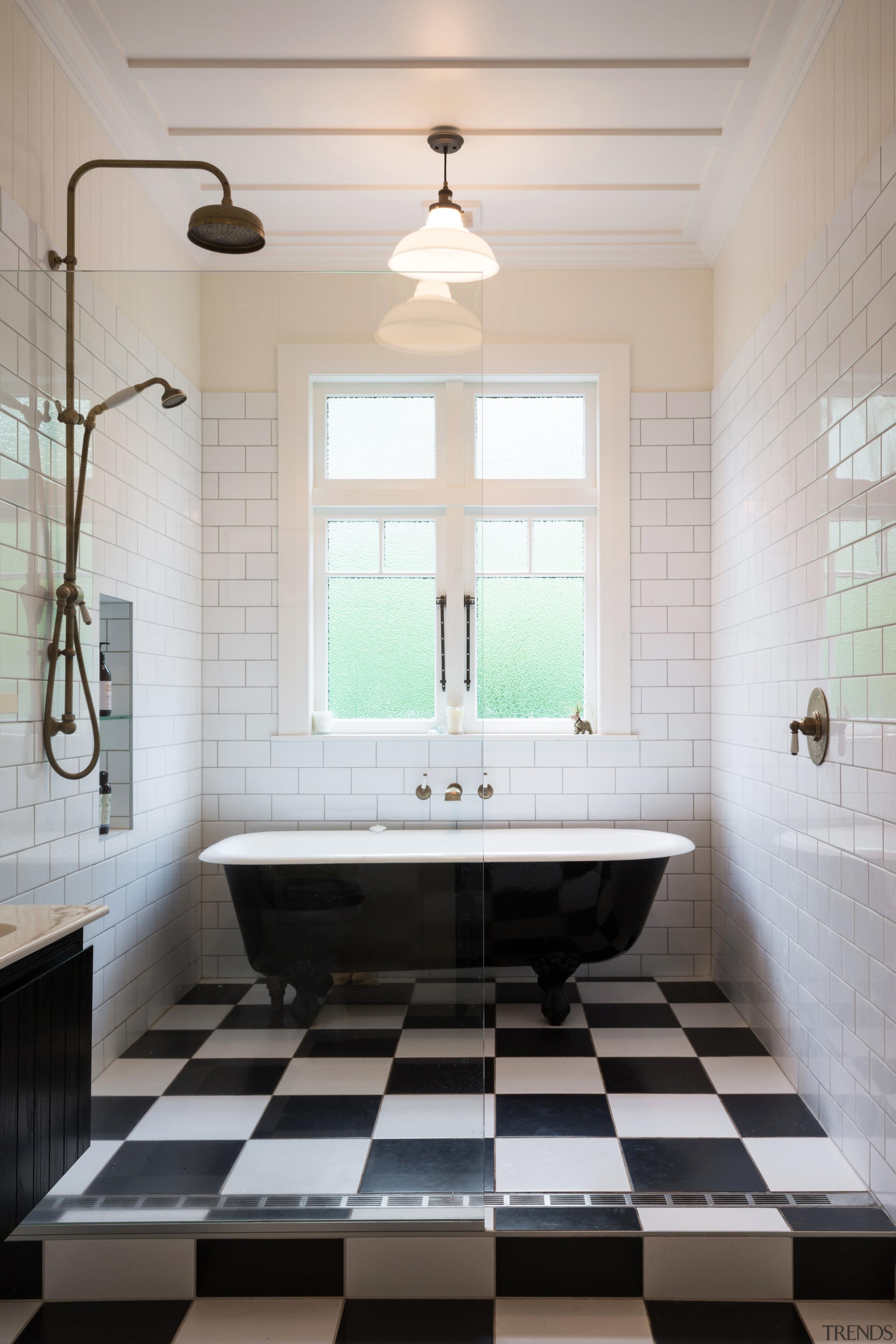 Family Bathroom 3 - architecture | bathroom | architecture, bathroom, ceiling, daylighting, floor, flooring, home, interior design, room, sink, tile, gray, white