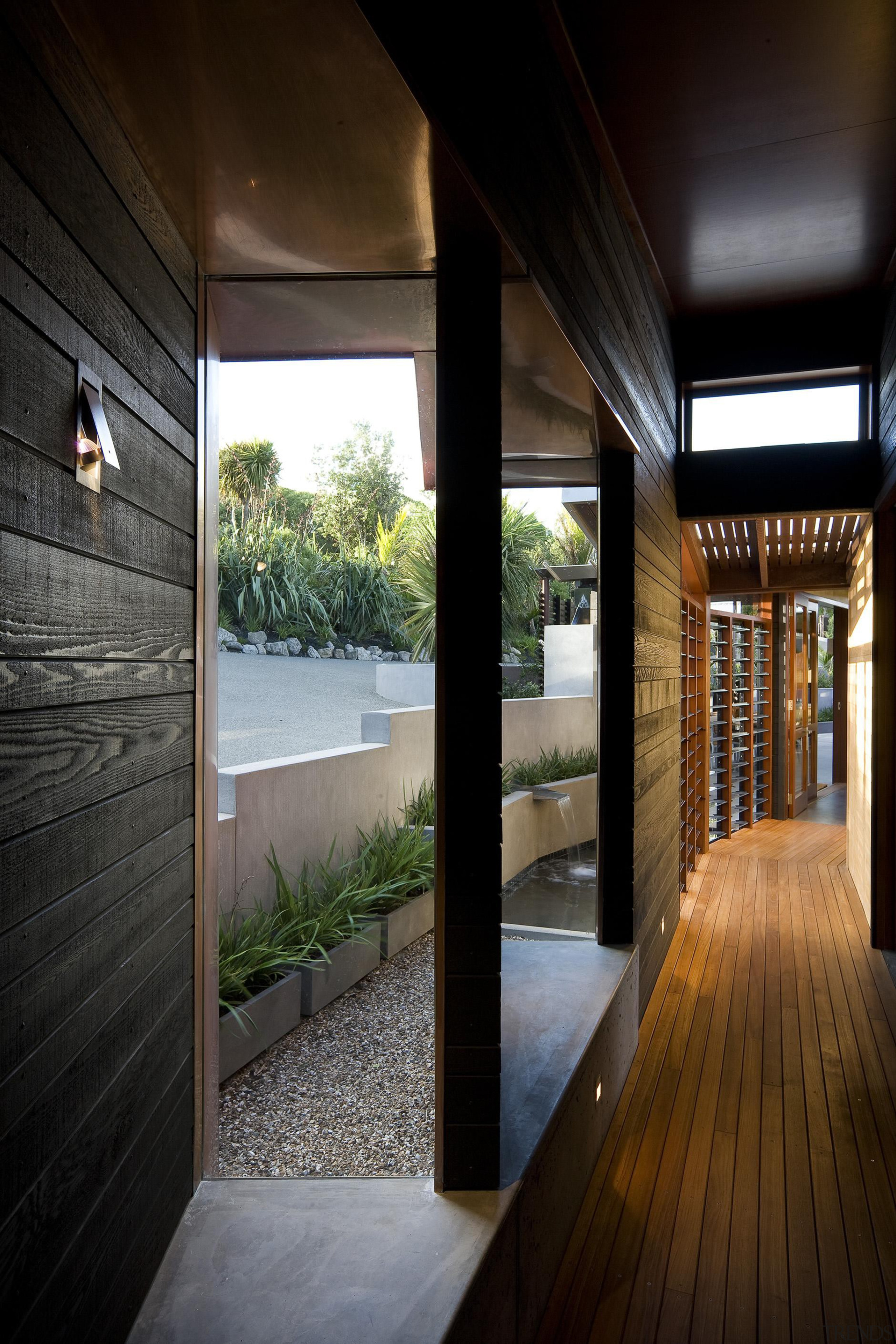 Waiheke Island, Auckland - Owhanake Bay - architecture architecture, home, house, interior design, real estate, window, wood, black