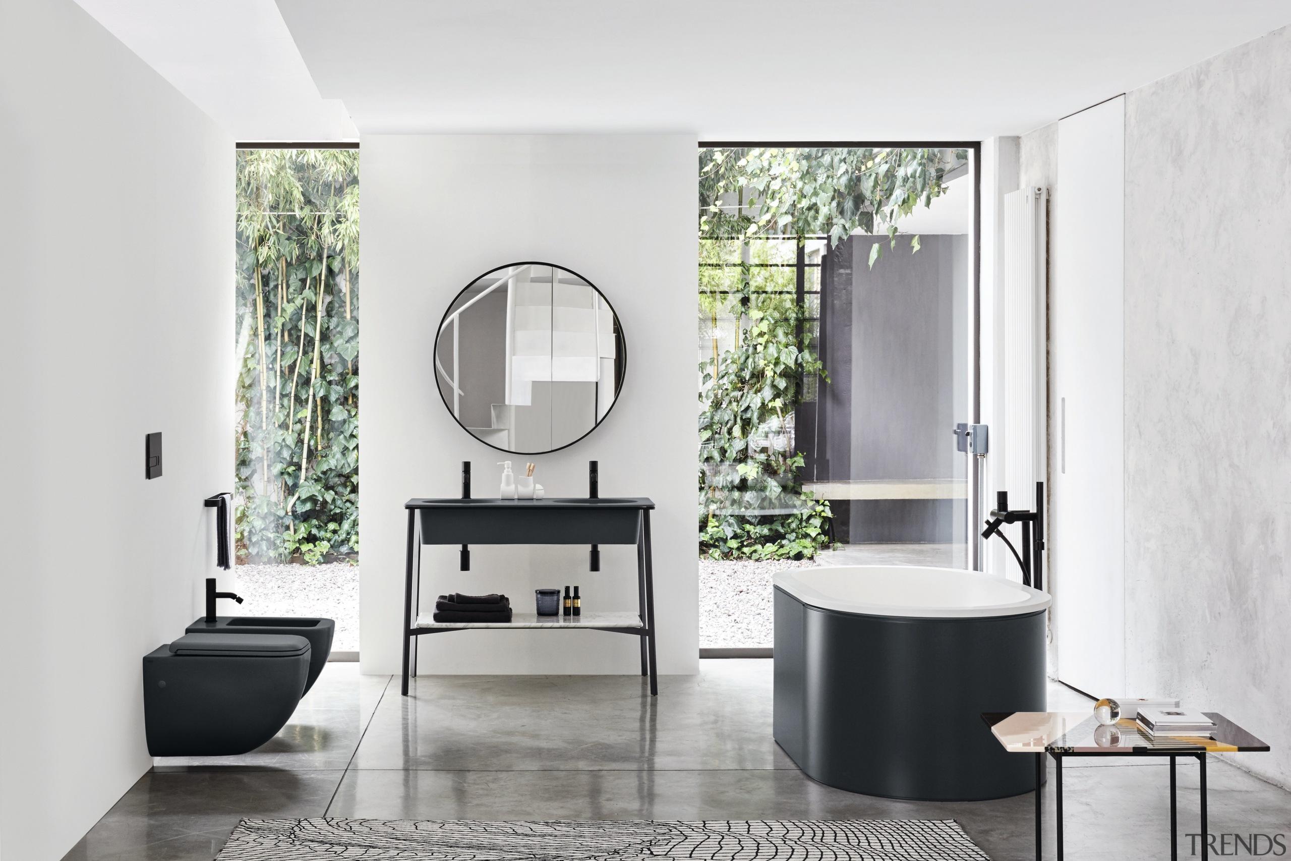 The Catini collection by Ceramica Cielo includes the bathroom, bathroom accessory, bathroom cabinet, floor, interior design, plumbing fixture, product design, sink, tap, white