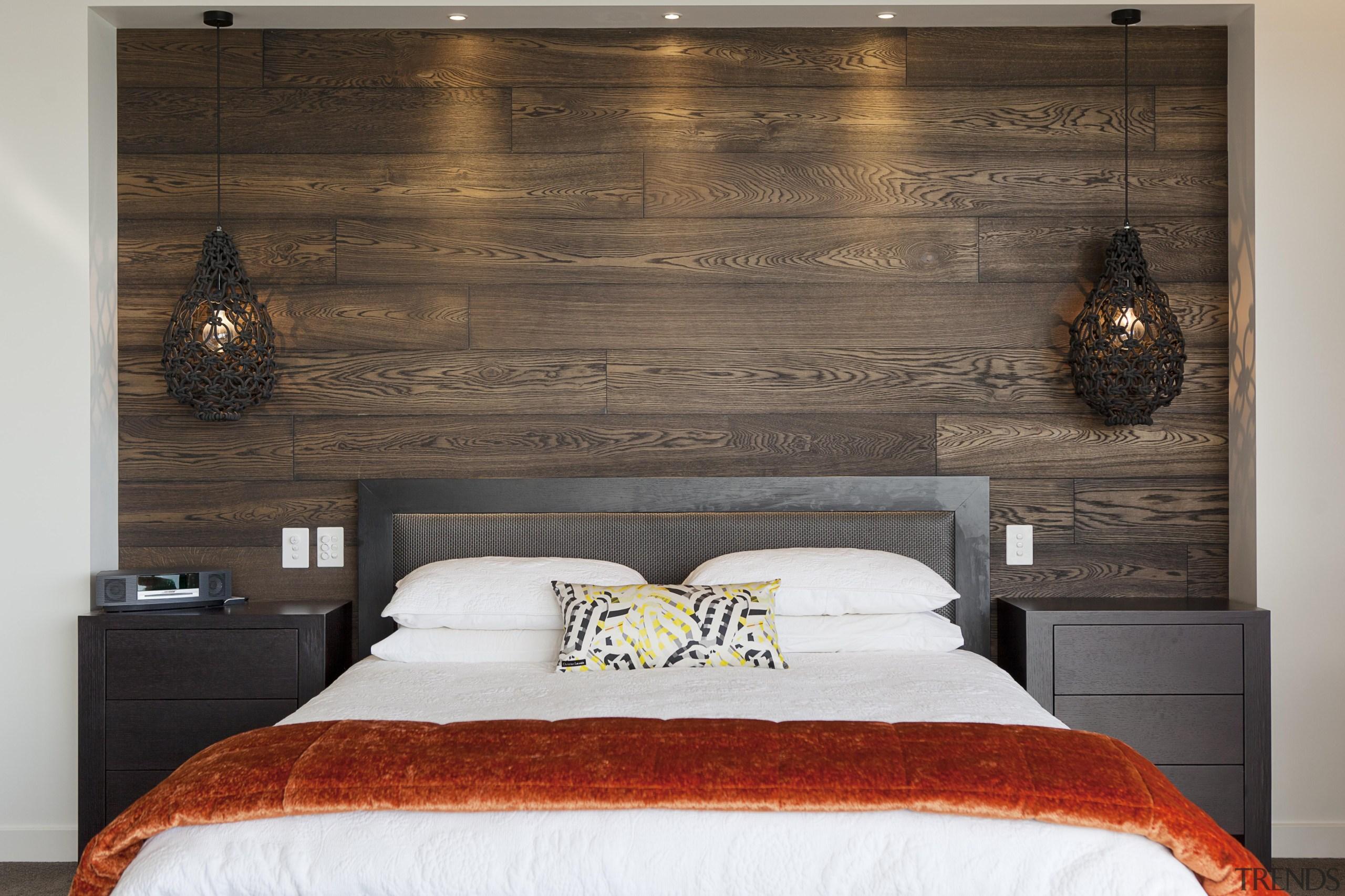 DFD Wood Floors is Creative Flooring brand for bed, bed frame, bed sheet, bedroom, ceiling, floor, furniture, home, interior design, room, suite, wall, wood, gray, black