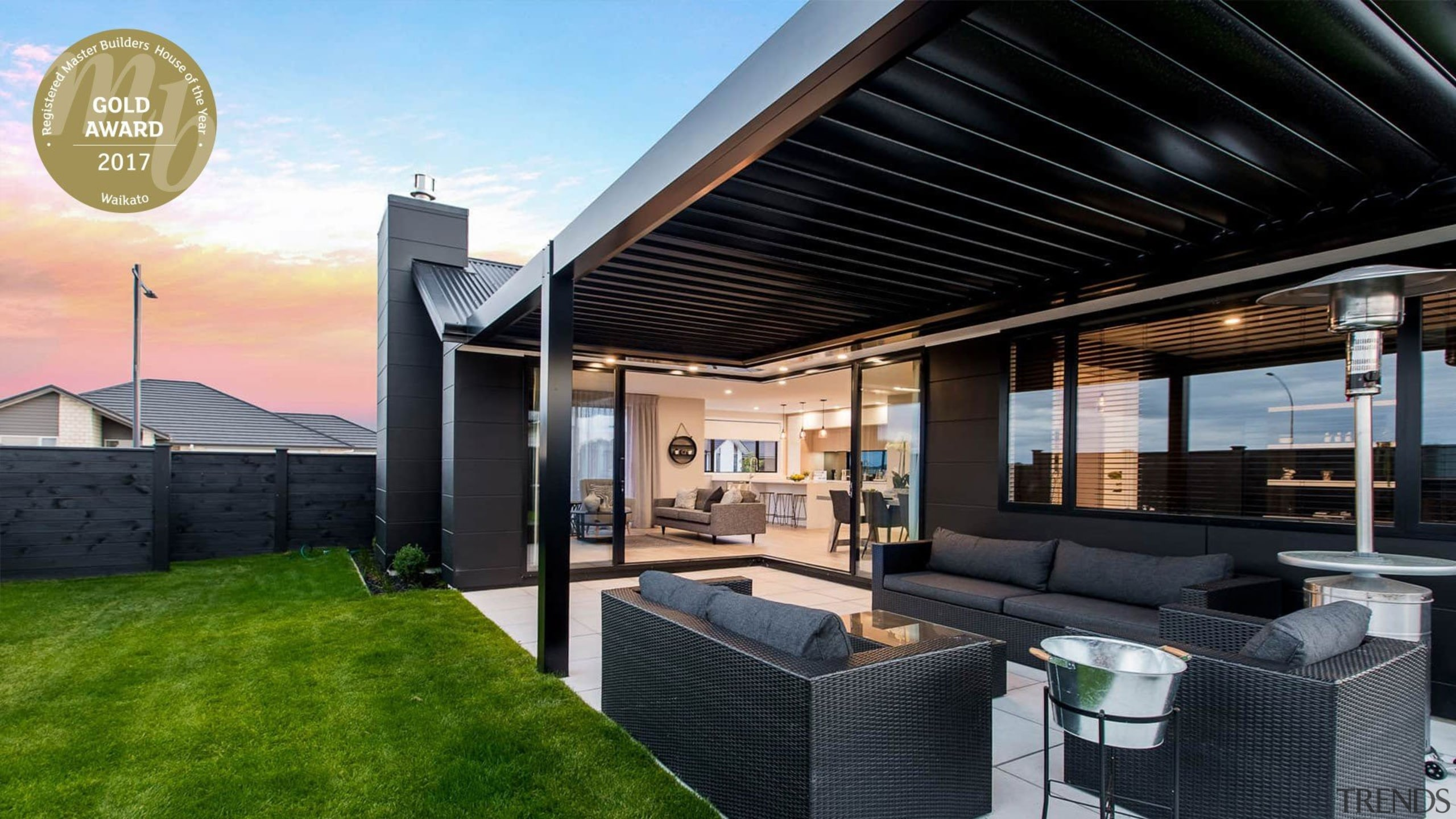 Amazing all-weather outdoor space - Amazing all-weather outdoor estate, home, house, interior design, property, real estate, roof, black