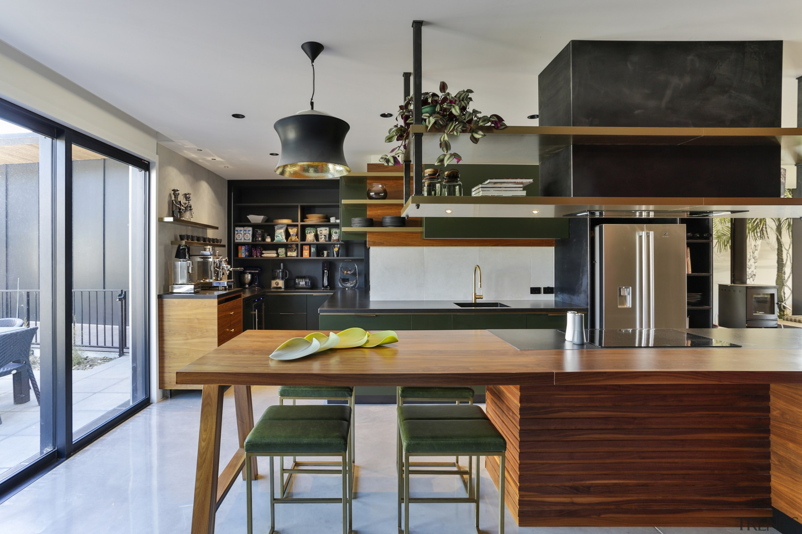 The zoning of the kitchen was carefully considered.