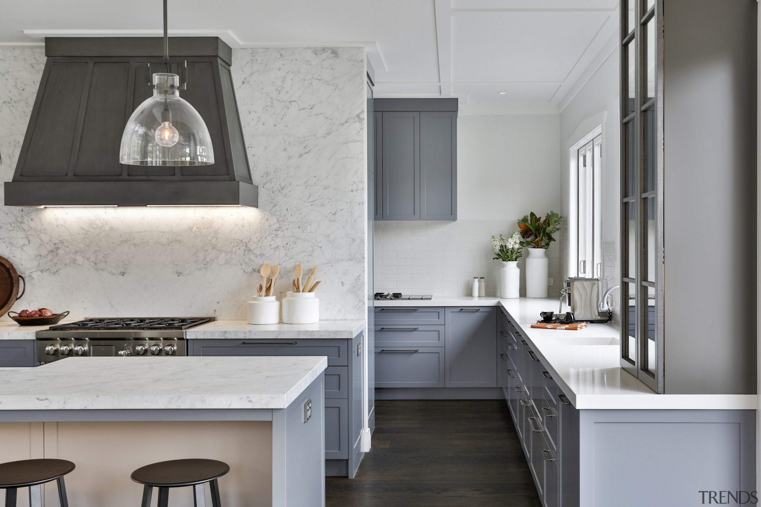 This traditional kitchen has two separate, but connected