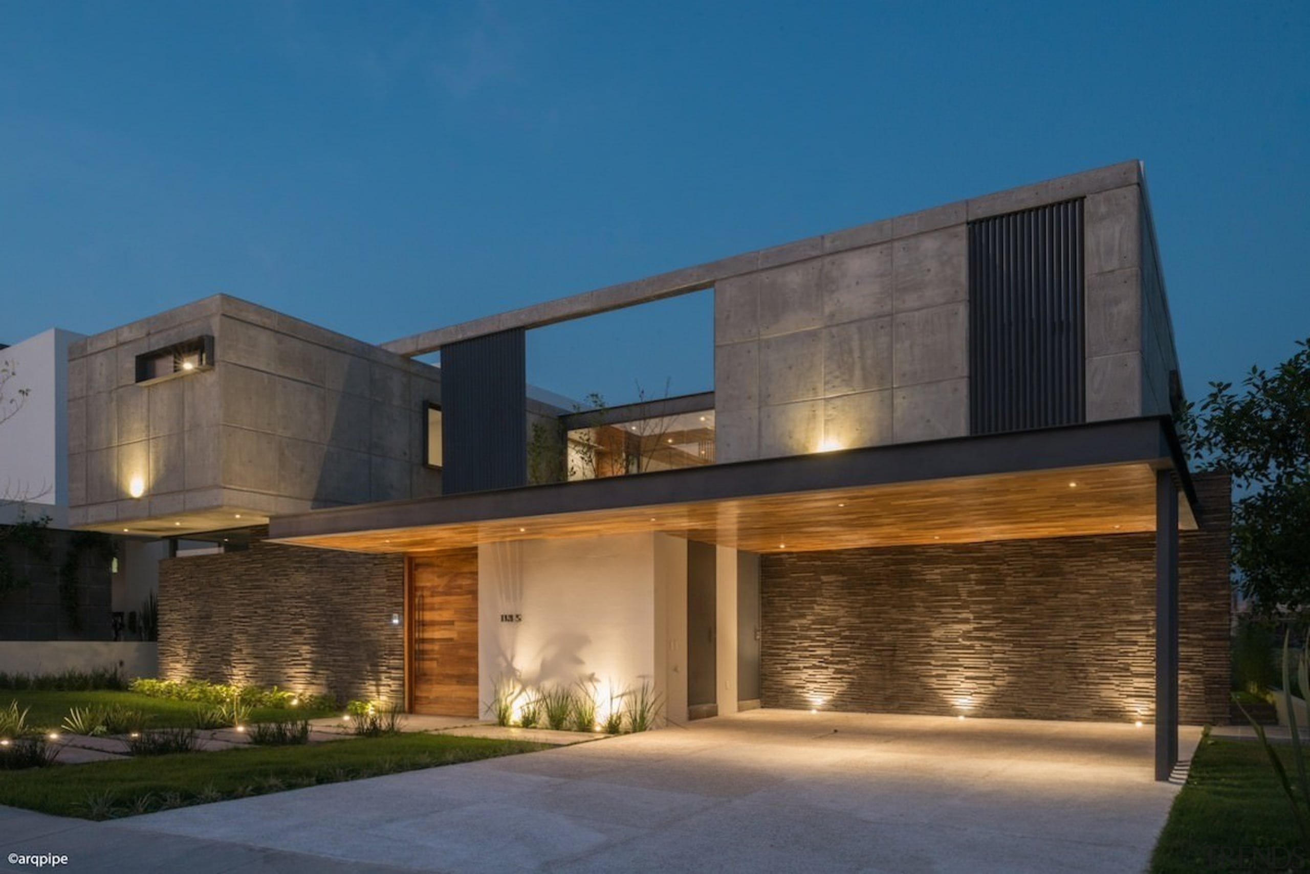 Colima home/Di Frenna Arquitectos - Colima home/Di Frenna architecture, building, elevation, estate, facade, home, house, property, real estate, residential area, window, teal